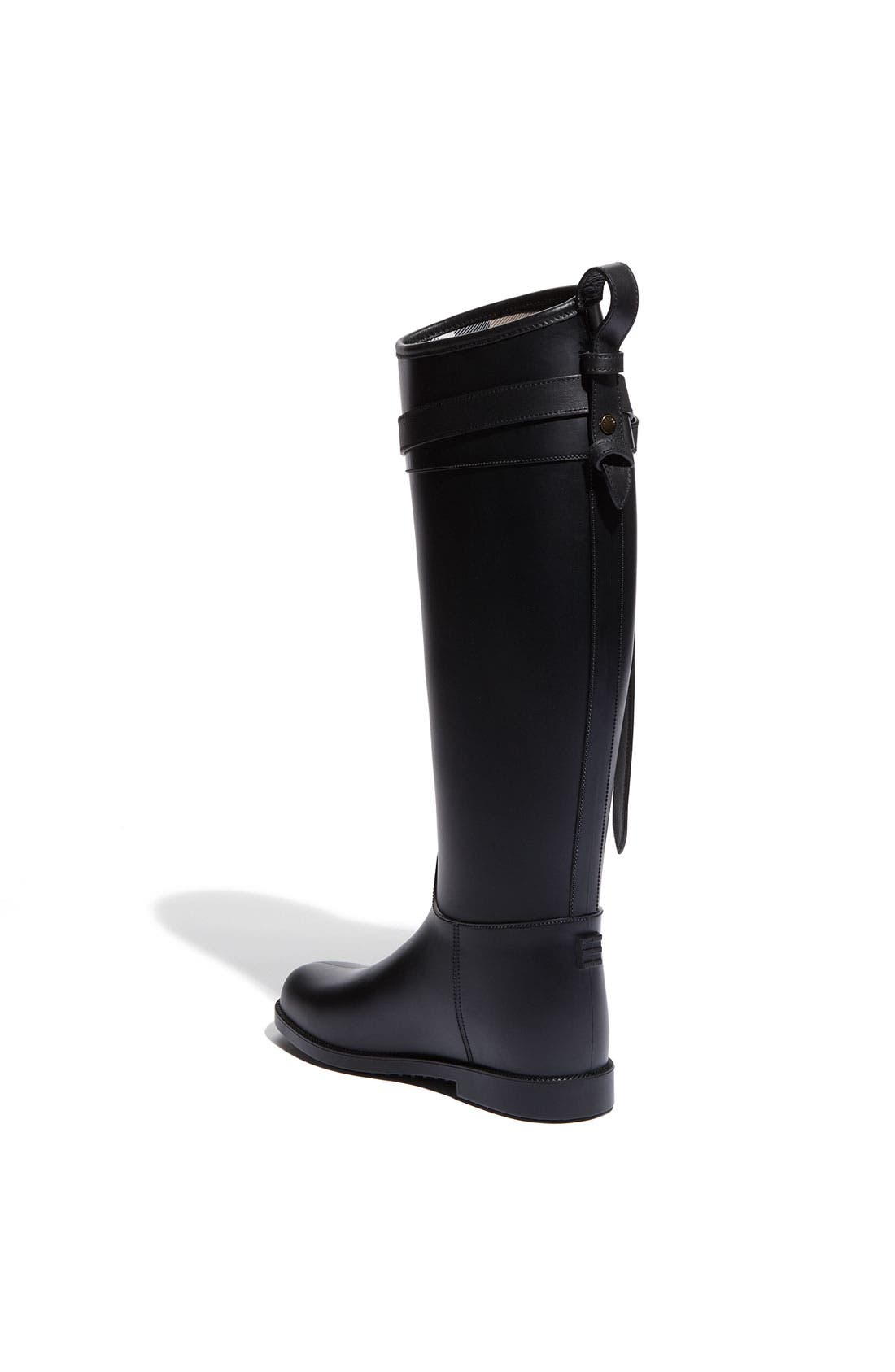 Rubber Riding Boot,                             Alternate thumbnail 4, color,                             001