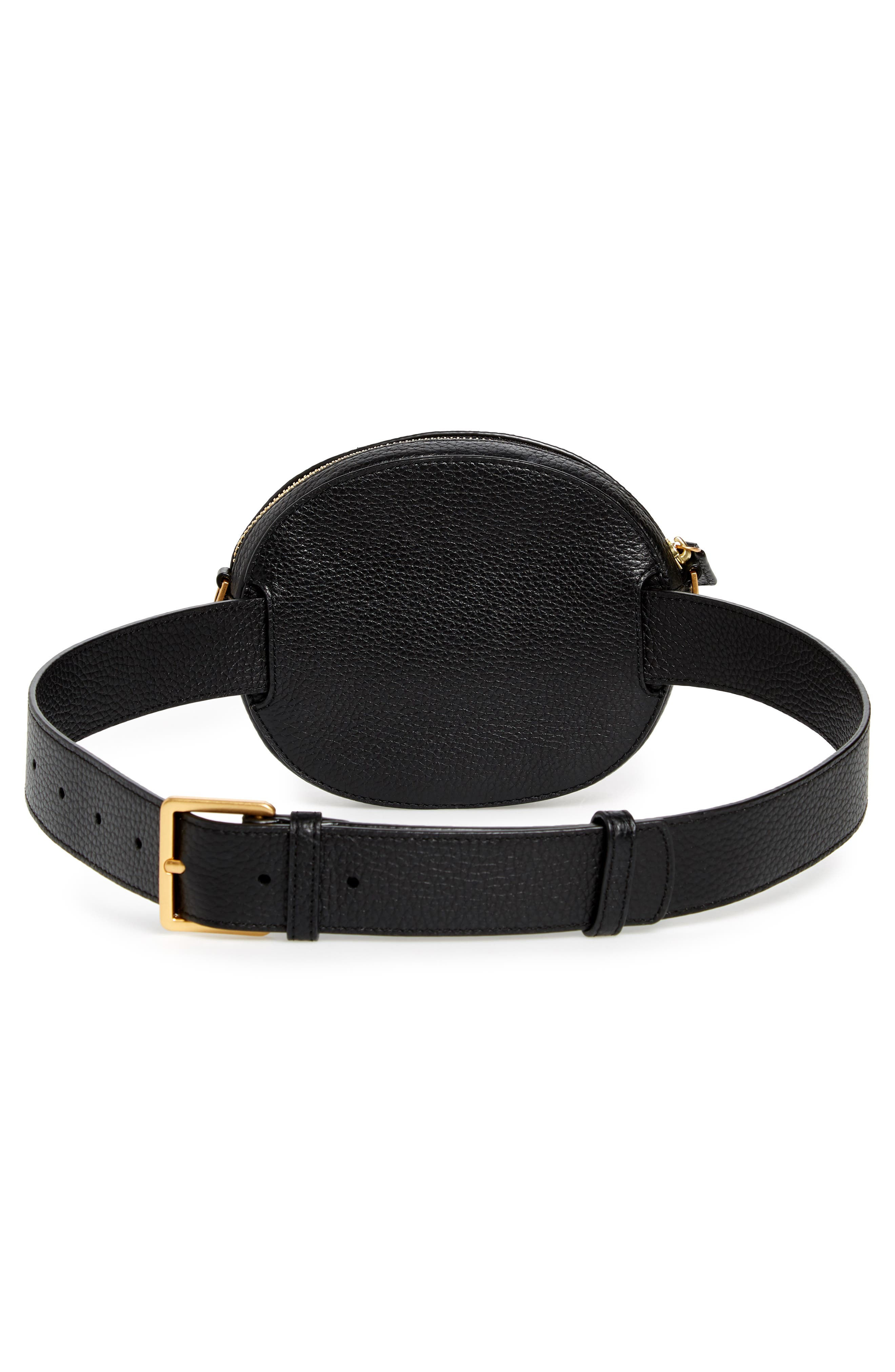 McGraw Leather Belt/Crossbody Bag,                             Alternate thumbnail 5, color,                             001