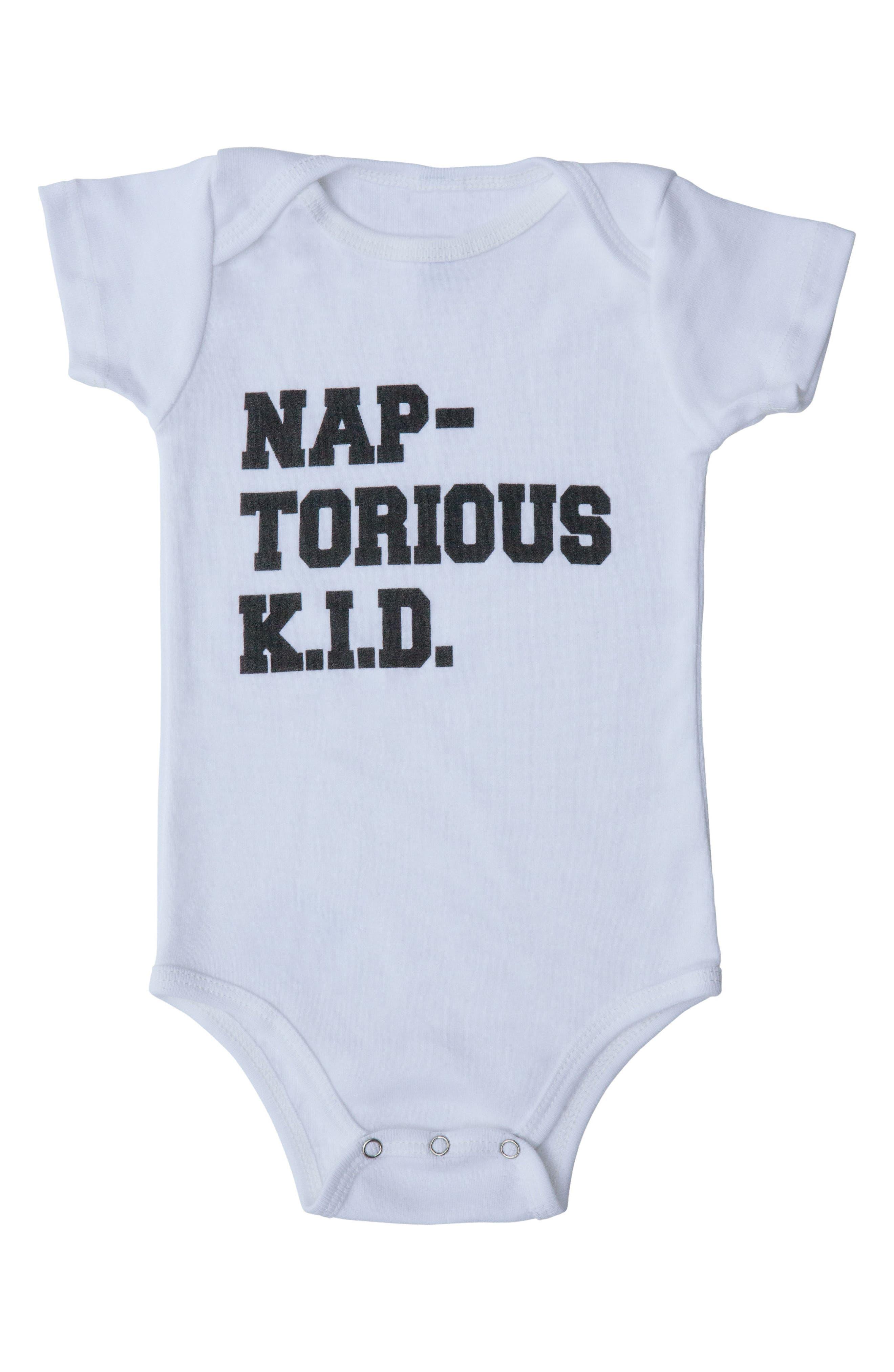 Naptorious K.I.D. Bodysuit,                             Main thumbnail 1, color,                             WHITE