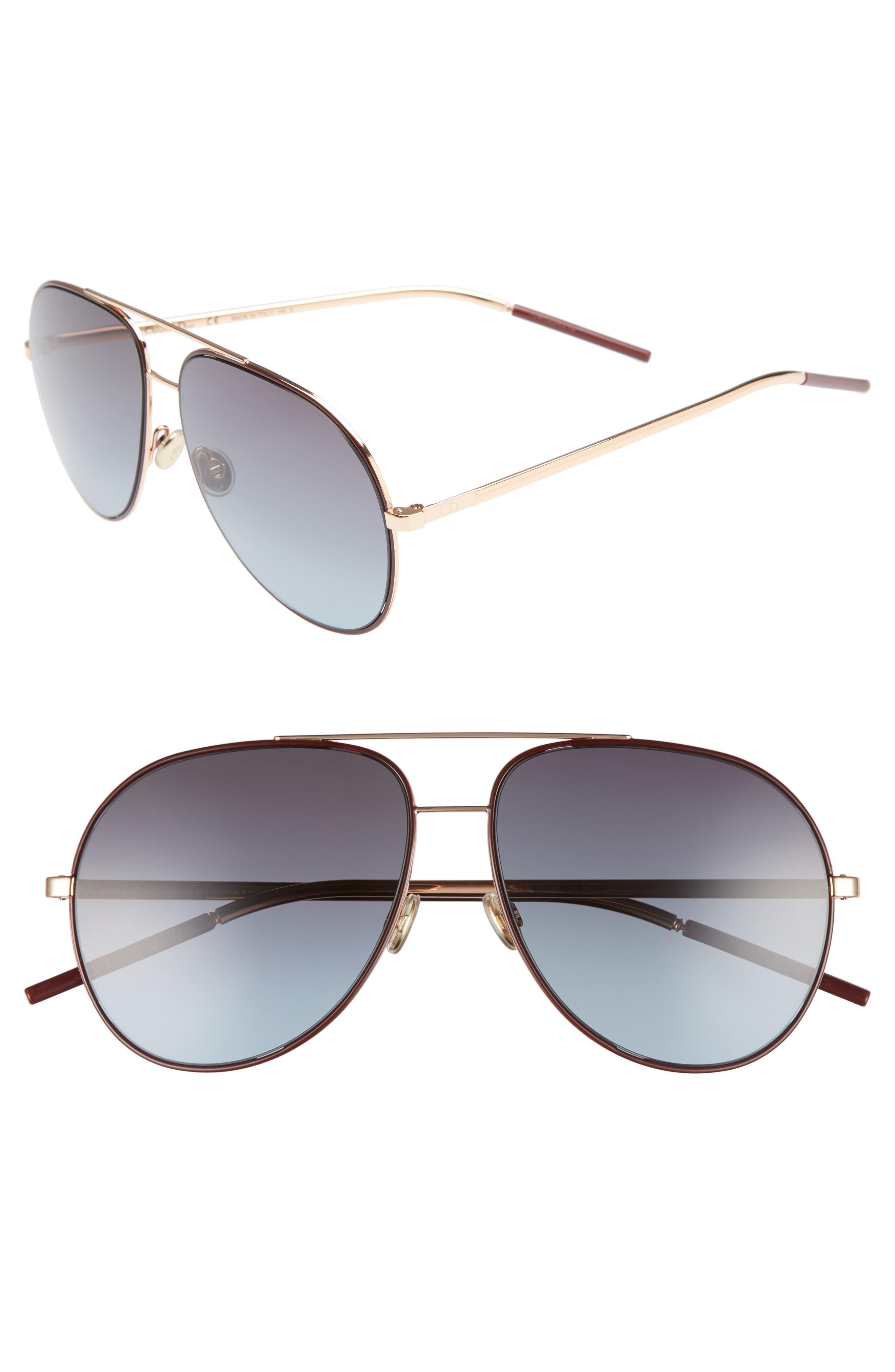 Astrals 59mm Aviator Sunglasses,                             Main thumbnail 4, color,