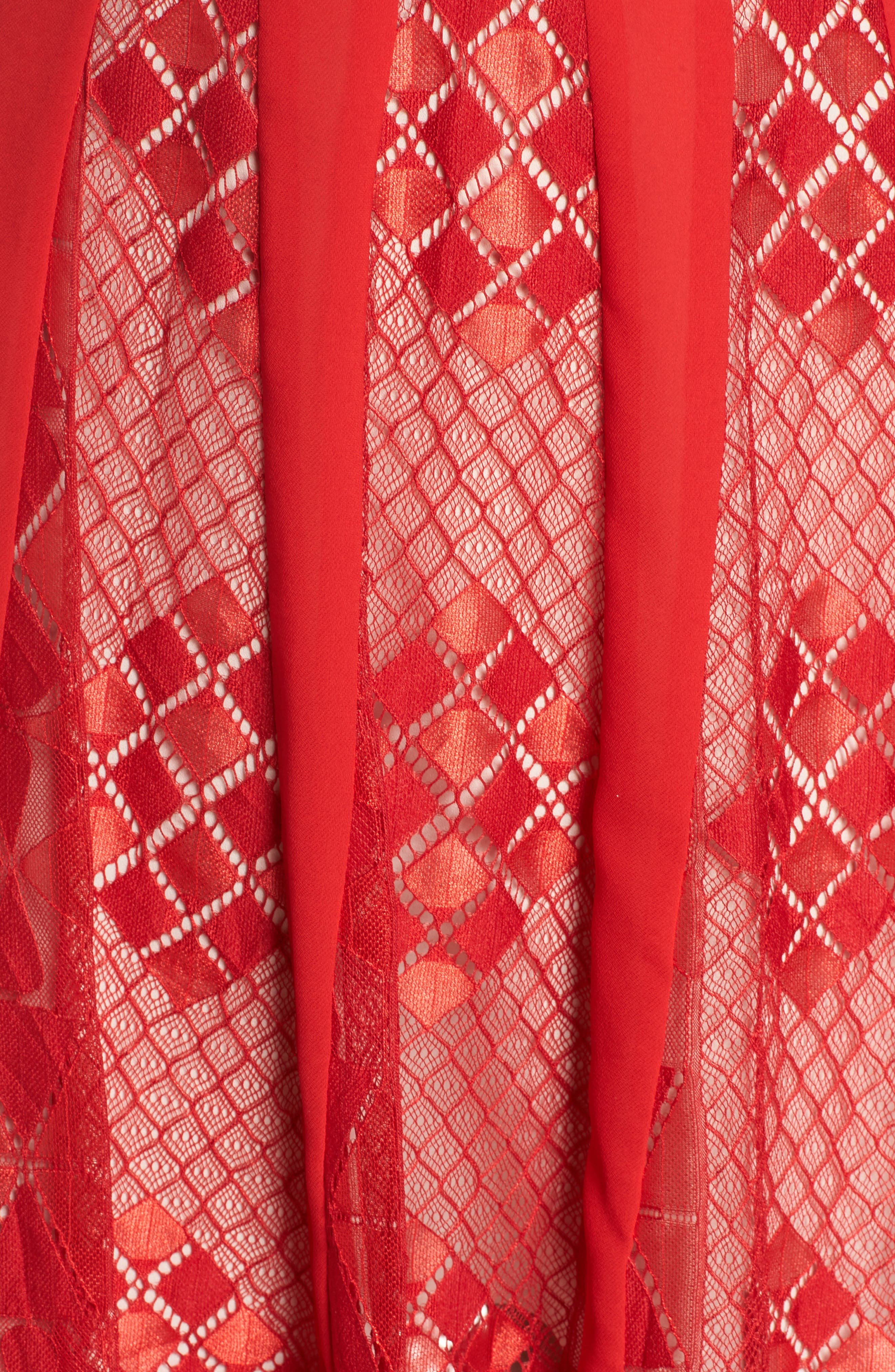 Calla Geometric Lace Dress,                             Alternate thumbnail 5, color,                             619