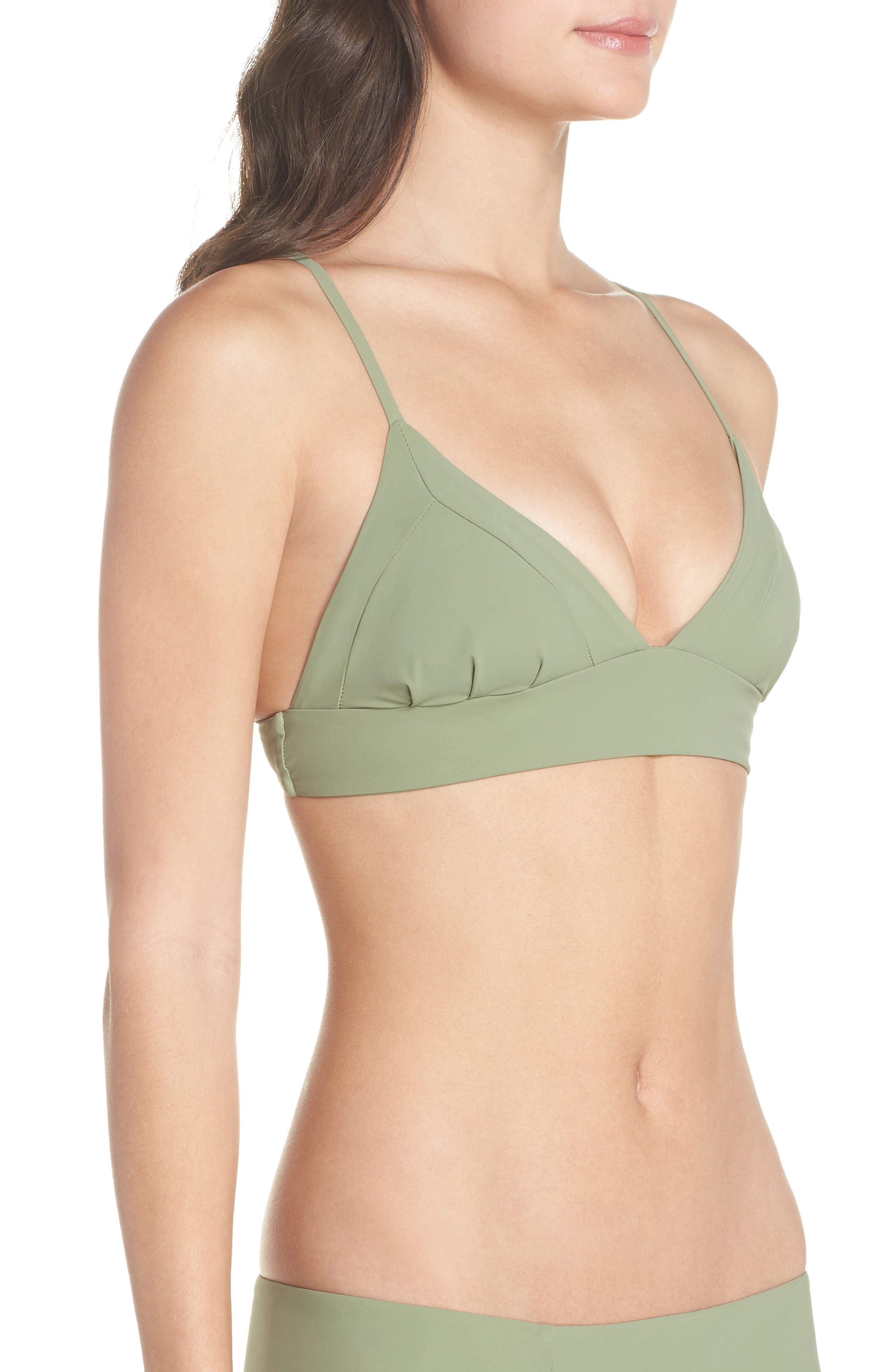 Dana the Delinquent Bikini Top,                             Alternate thumbnail 3, color,                             SAGE