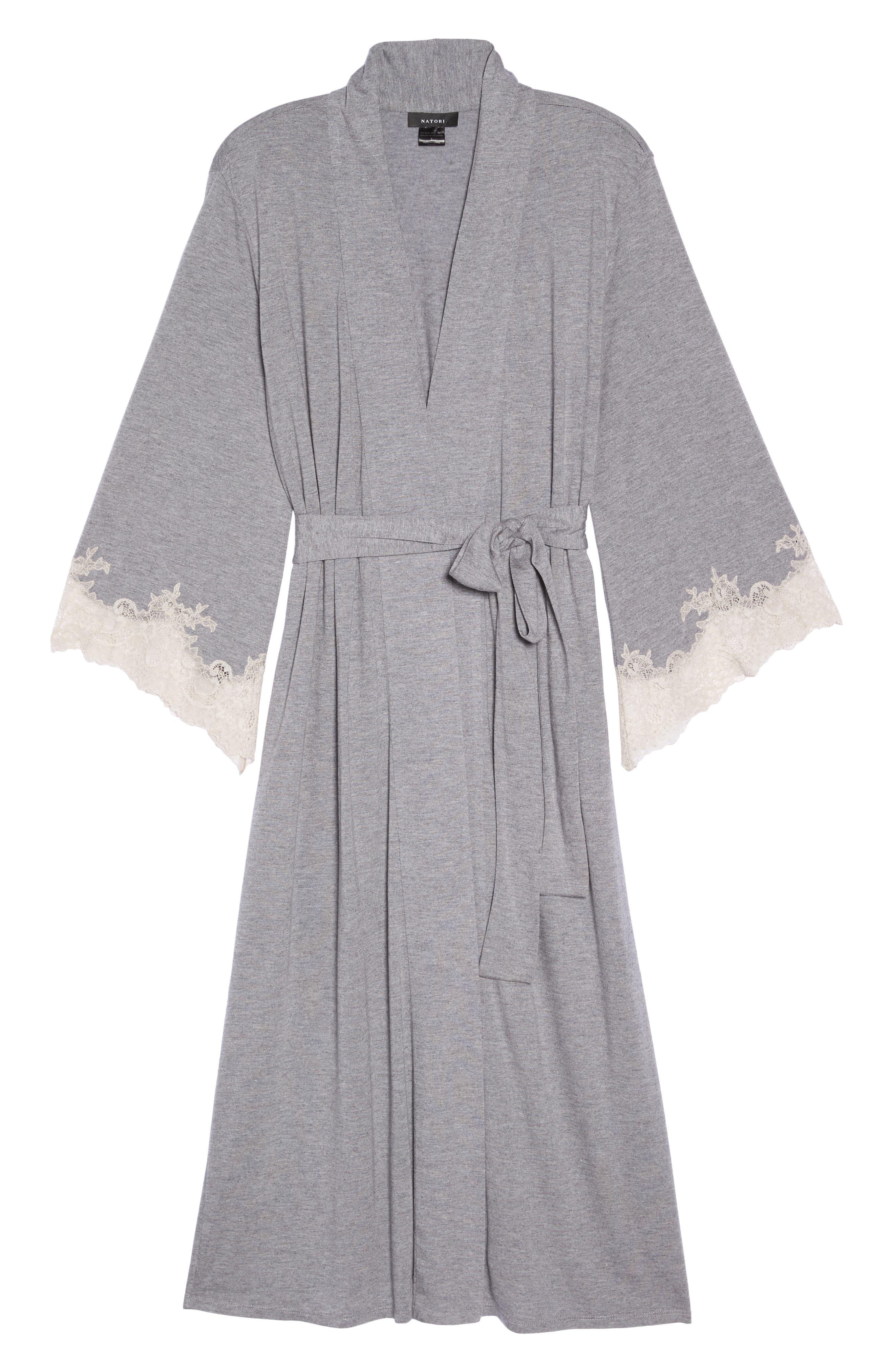 Luxe Shangri-La Robe,                             Alternate thumbnail 6, color,                             GREY