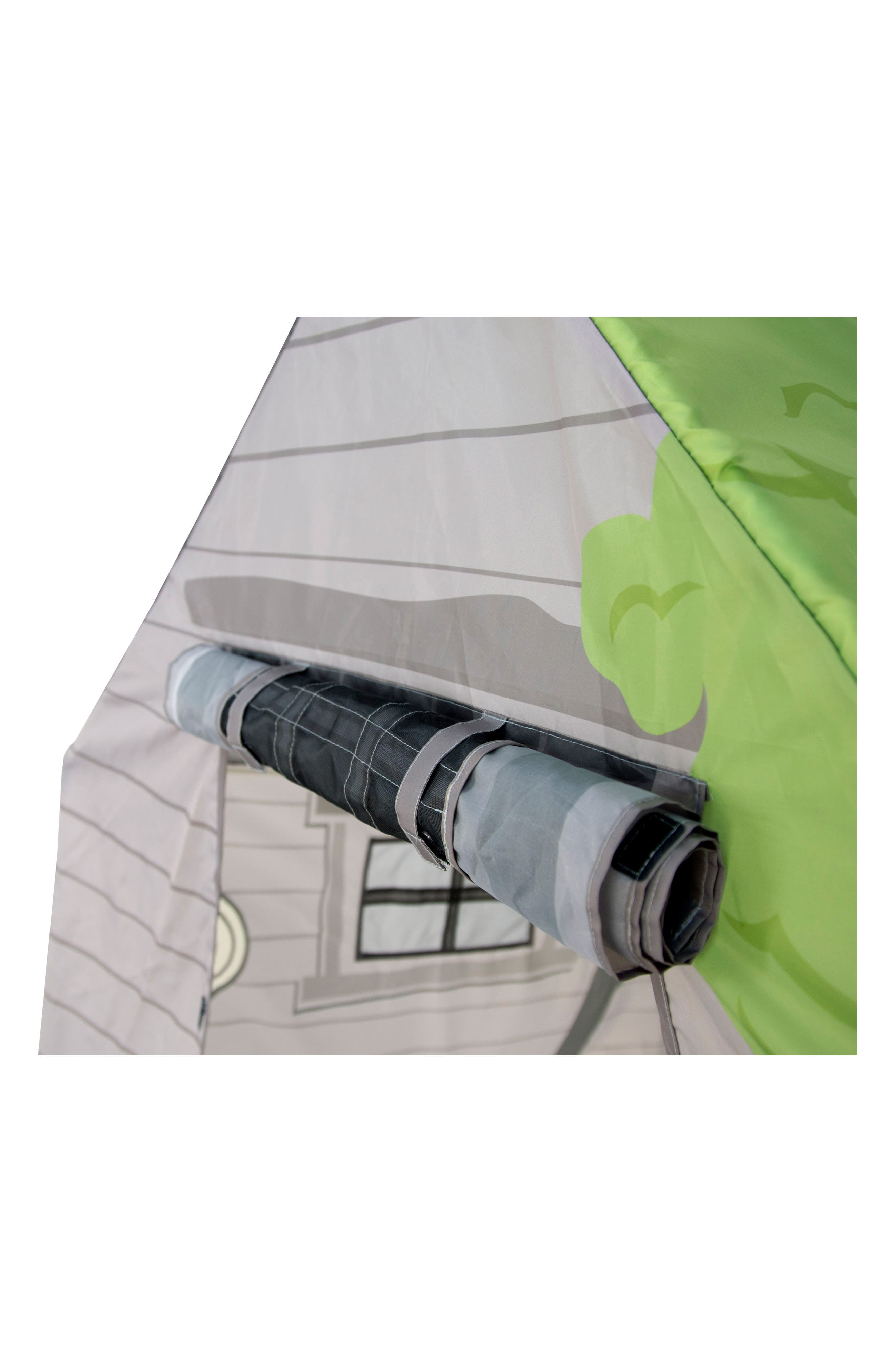 Treehouse Hideaway Playhouse Tent,                             Alternate thumbnail 3, color,                             GREEN