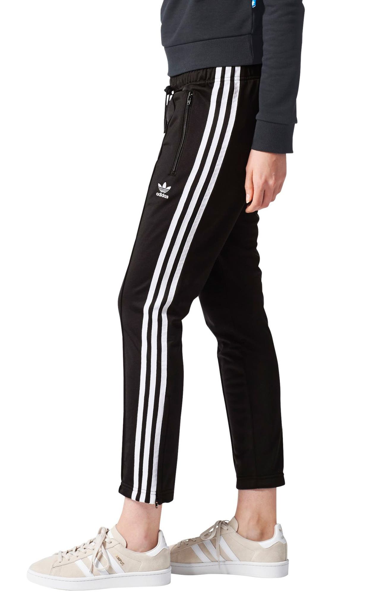 Originals Crop Pants,                             Alternate thumbnail 3, color,                             001