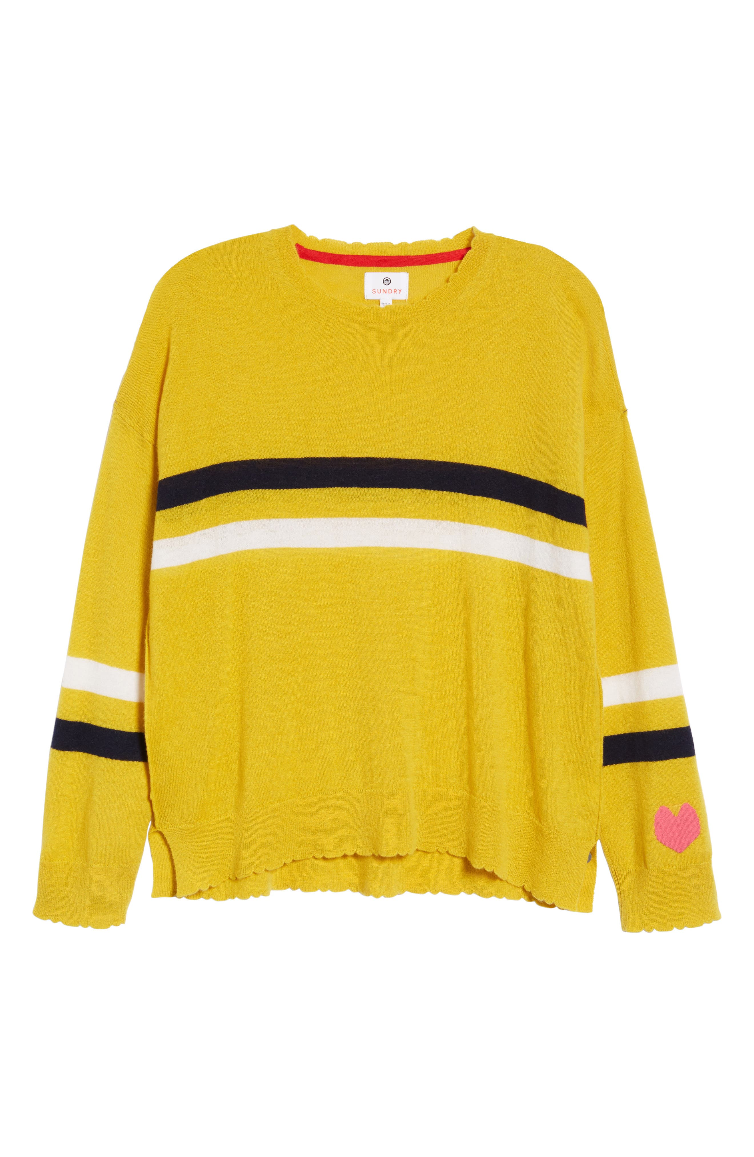 Stripe Wool & Cashmere Sweater,                             Alternate thumbnail 7, color,                             700