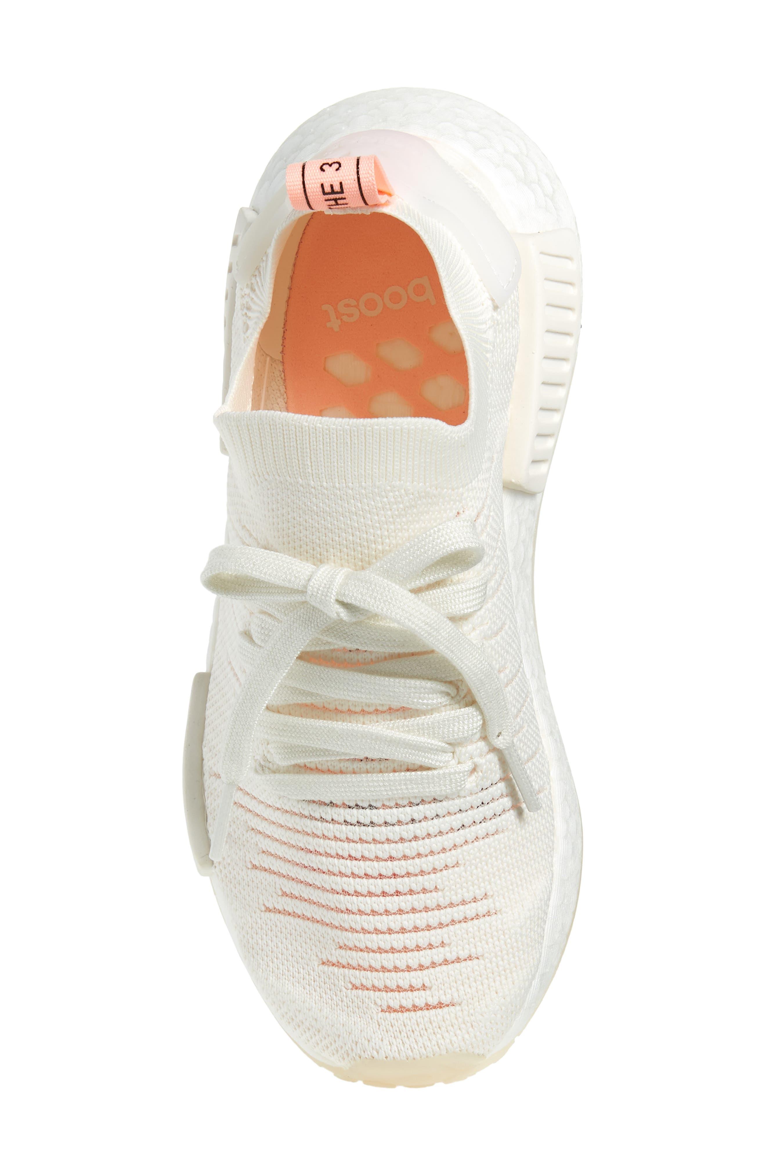 NMD R1 STLT Primeknit Sneaker,                             Alternate thumbnail 5, color,                             100