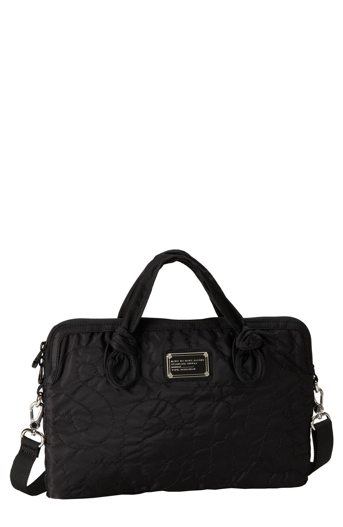 MARC JACOBS MARC BY MARC JACOBS 'Pretty Nylon - Computer Commuter' Bag, Main, color, 001