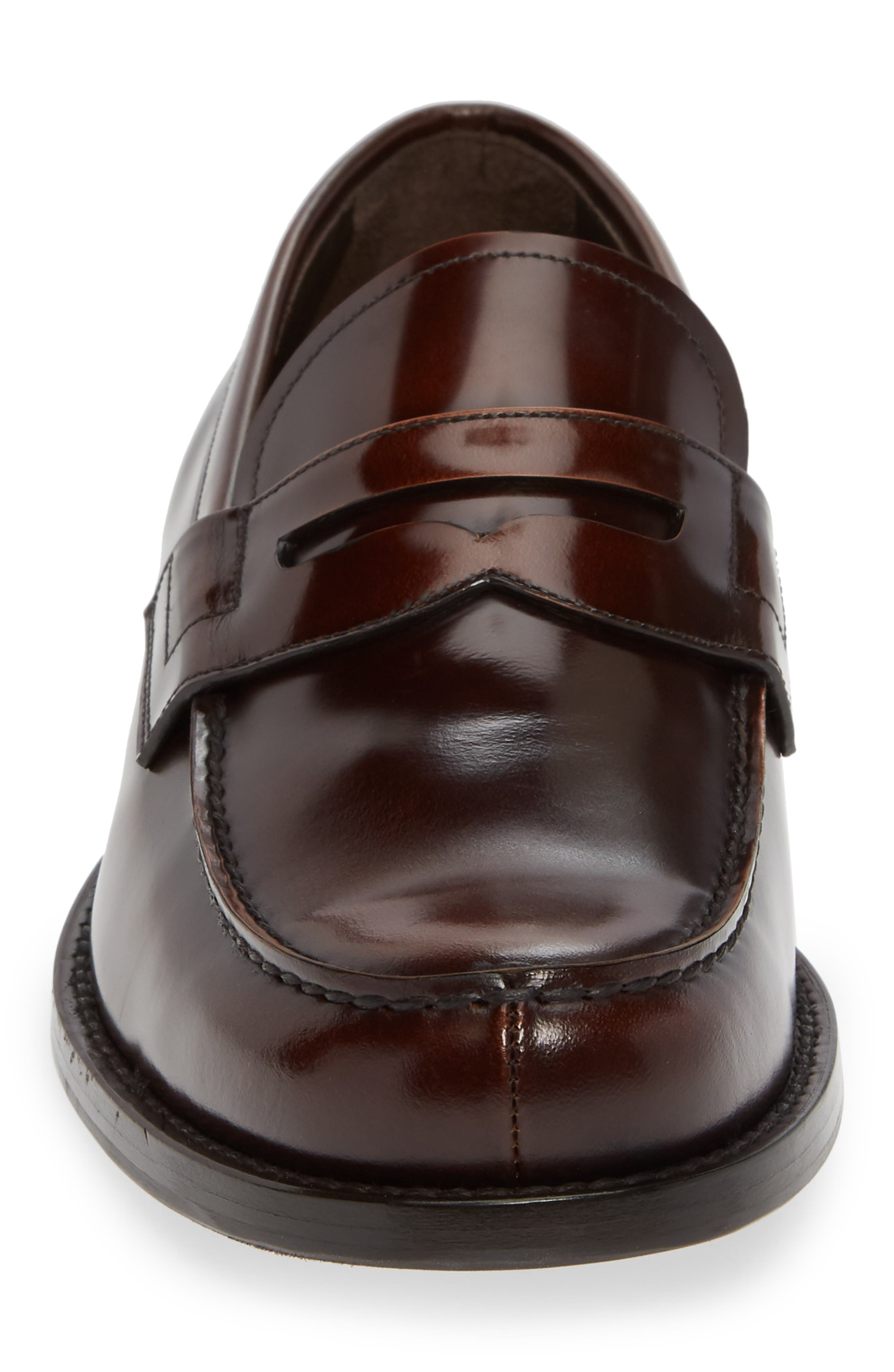 Penny Loafer,                             Alternate thumbnail 4, color,                             TOBACCO