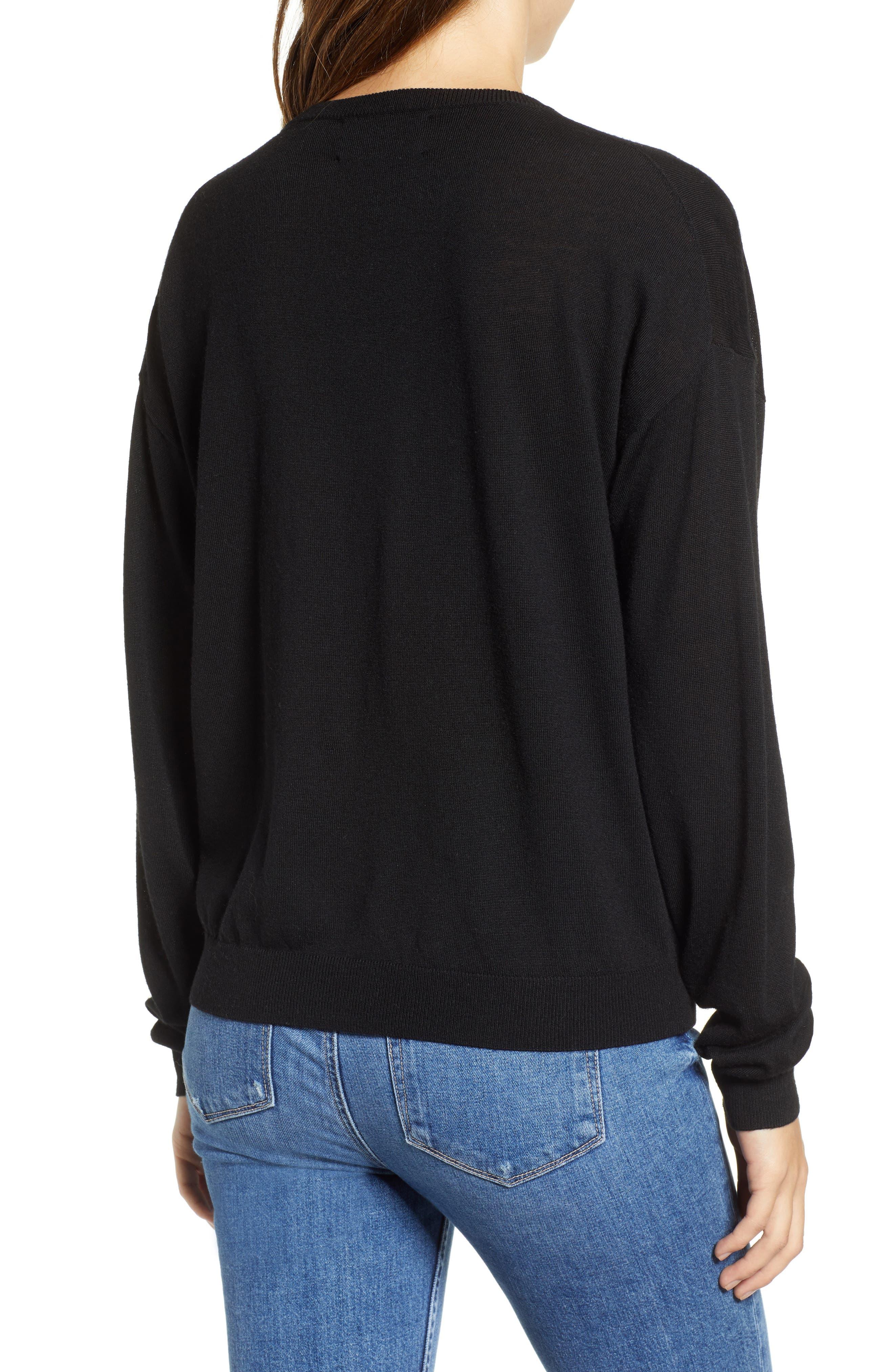 Je T'aime Sweater,                             Alternate thumbnail 2, color,                             NOIR