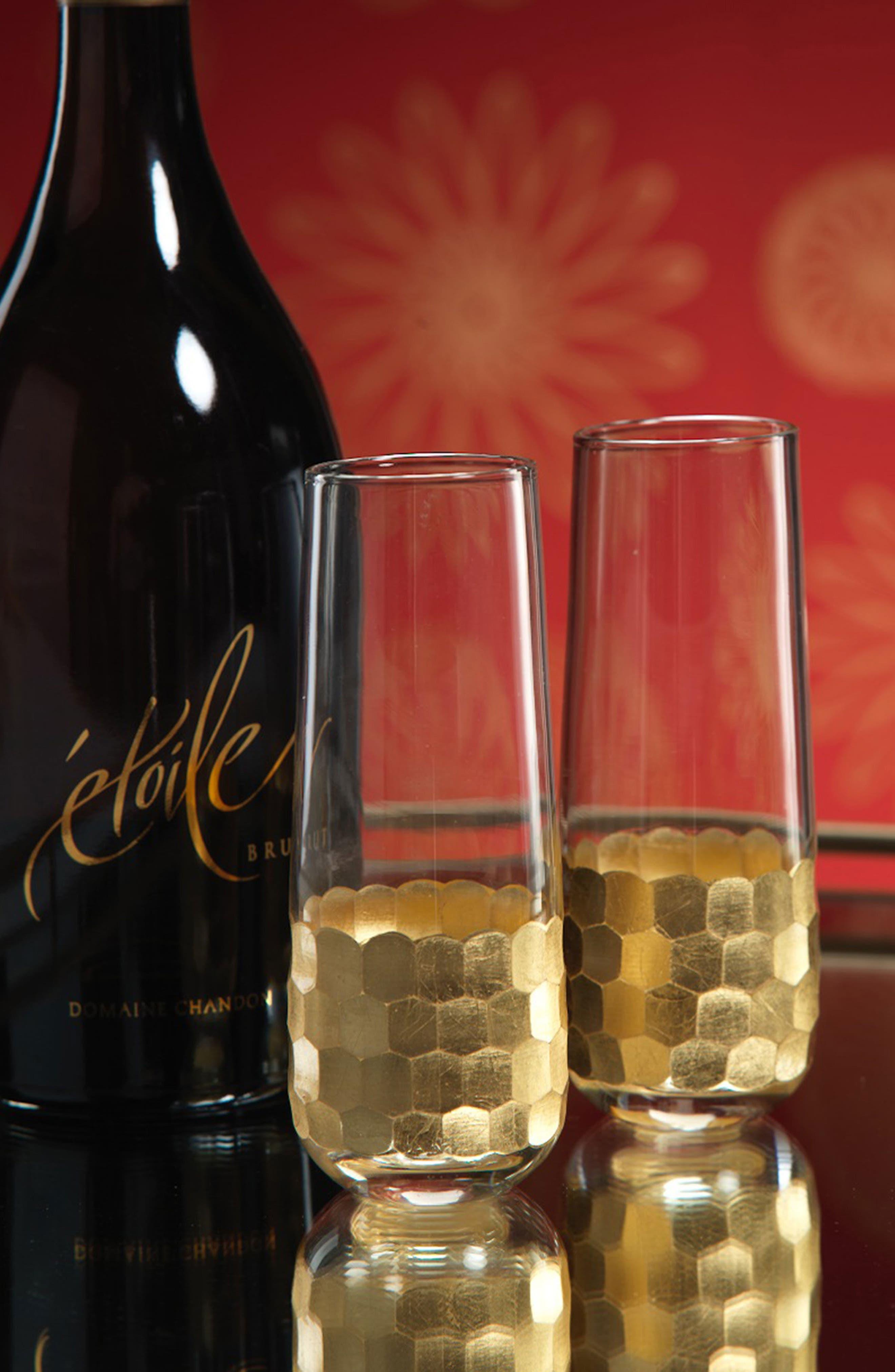 Vitorrio Set of 6 Stemless Champagne Glasses,                             Alternate thumbnail 3, color,                             710