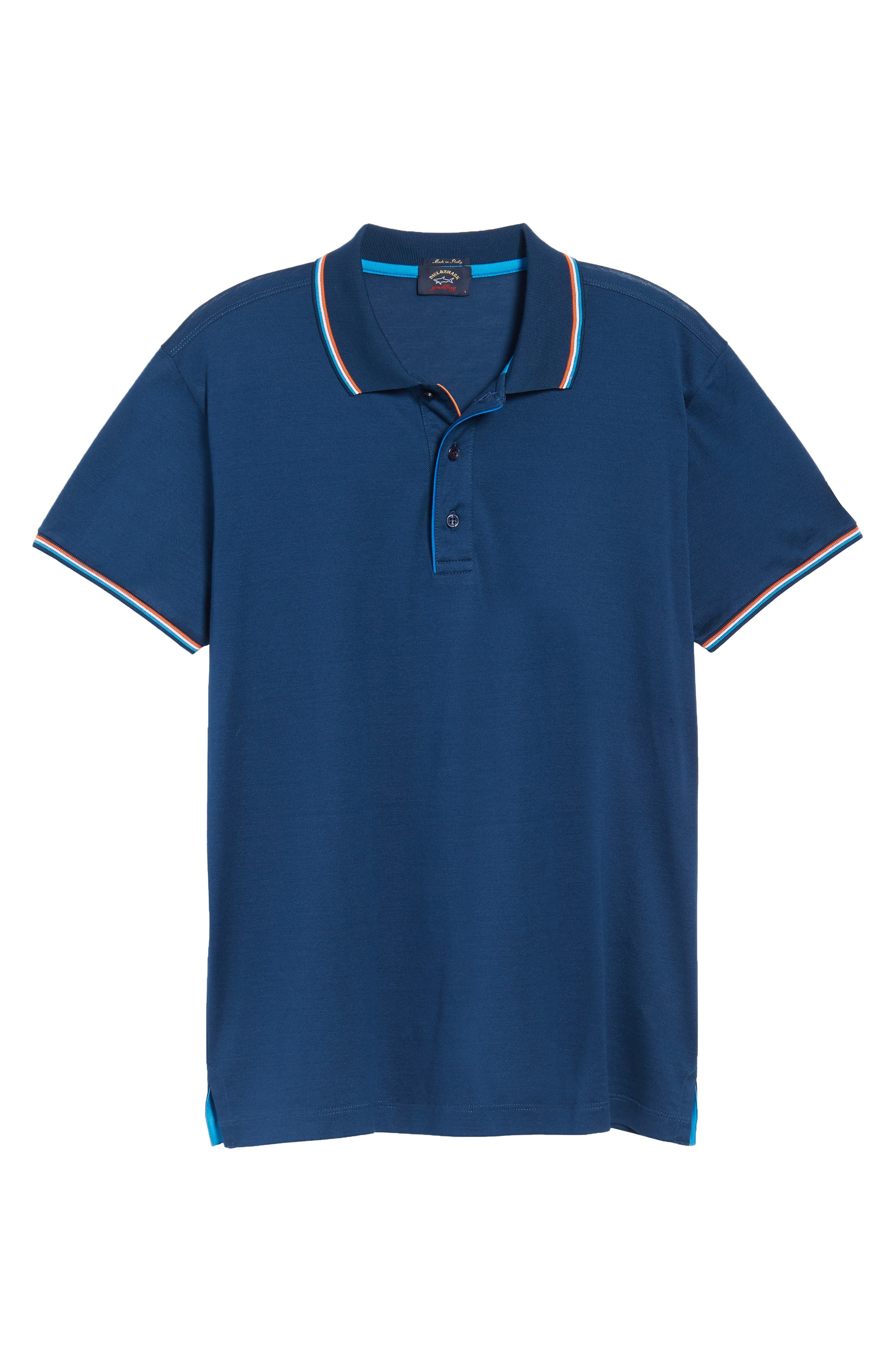 Paul&Shark Tipped Polo,                             Alternate thumbnail 6, color,                             403