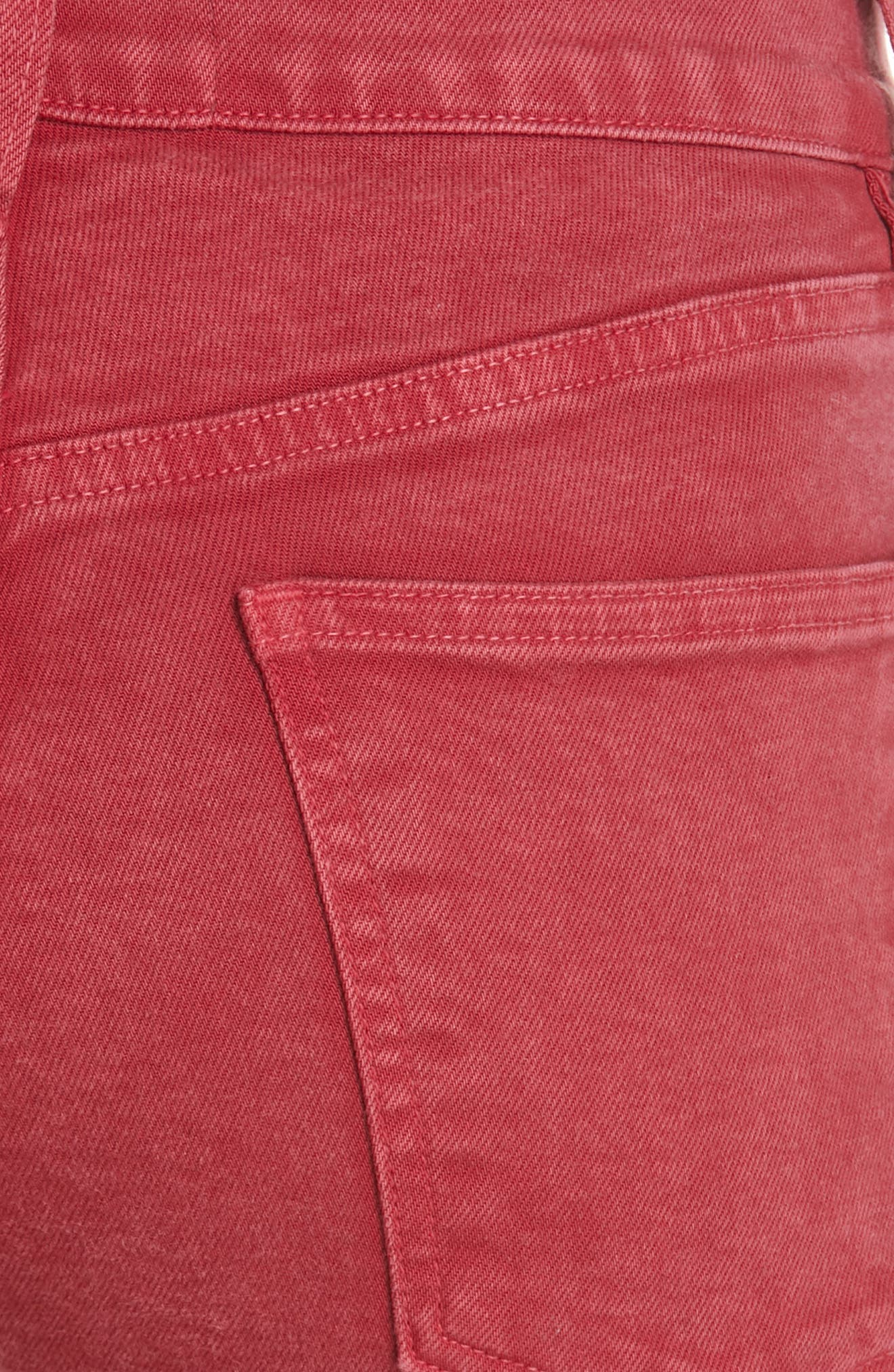 3X1 NYC,                             Stevie Straight Leg Jeans,                             Alternate thumbnail 5, color,                             MINERAL RUST RED
