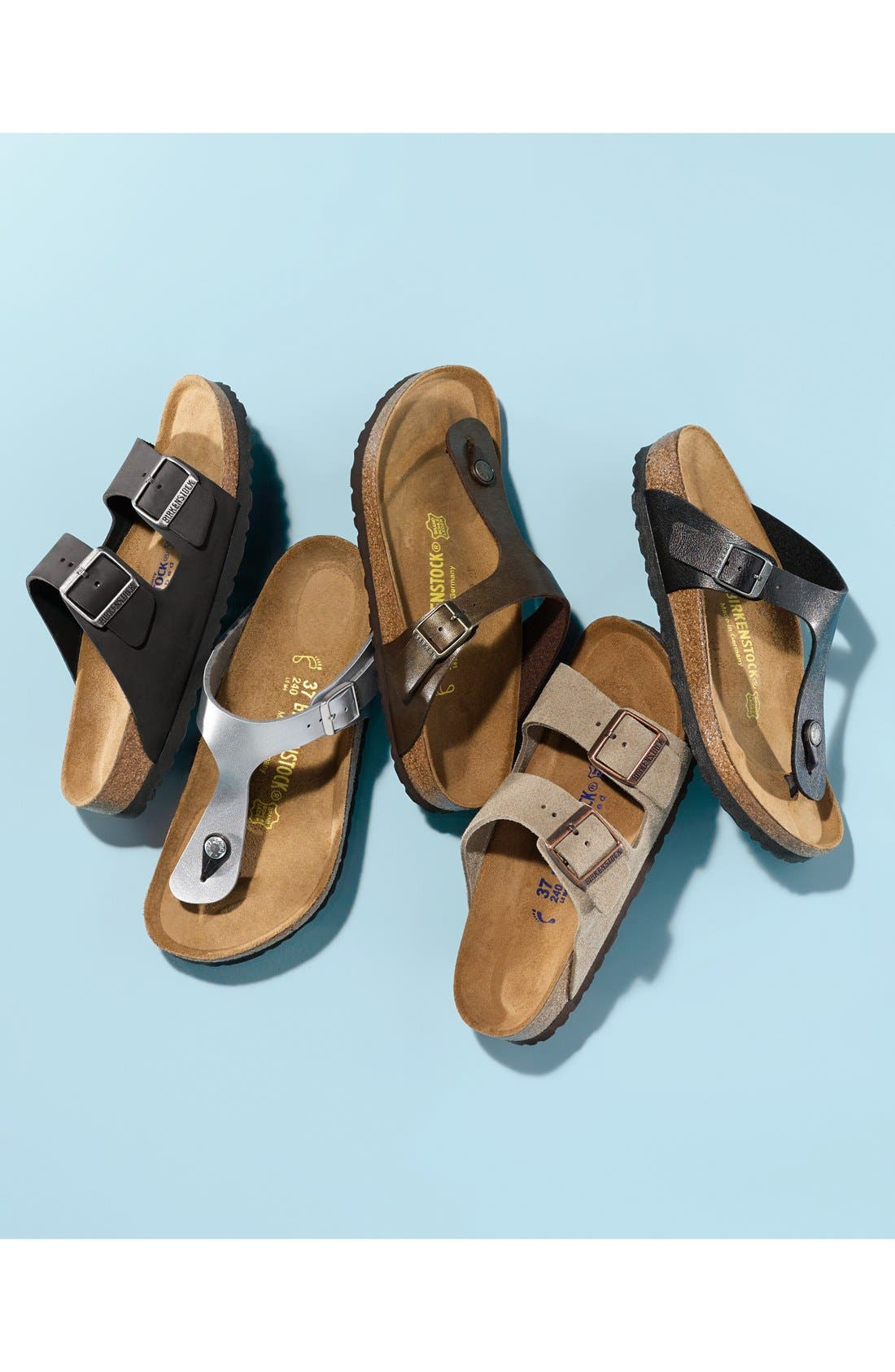 BIRKENSTOCK,                             Gizeh Birko-Flor<sup>™</sup> Thong,                             Alternate thumbnail 11, color,                             LICORICE
