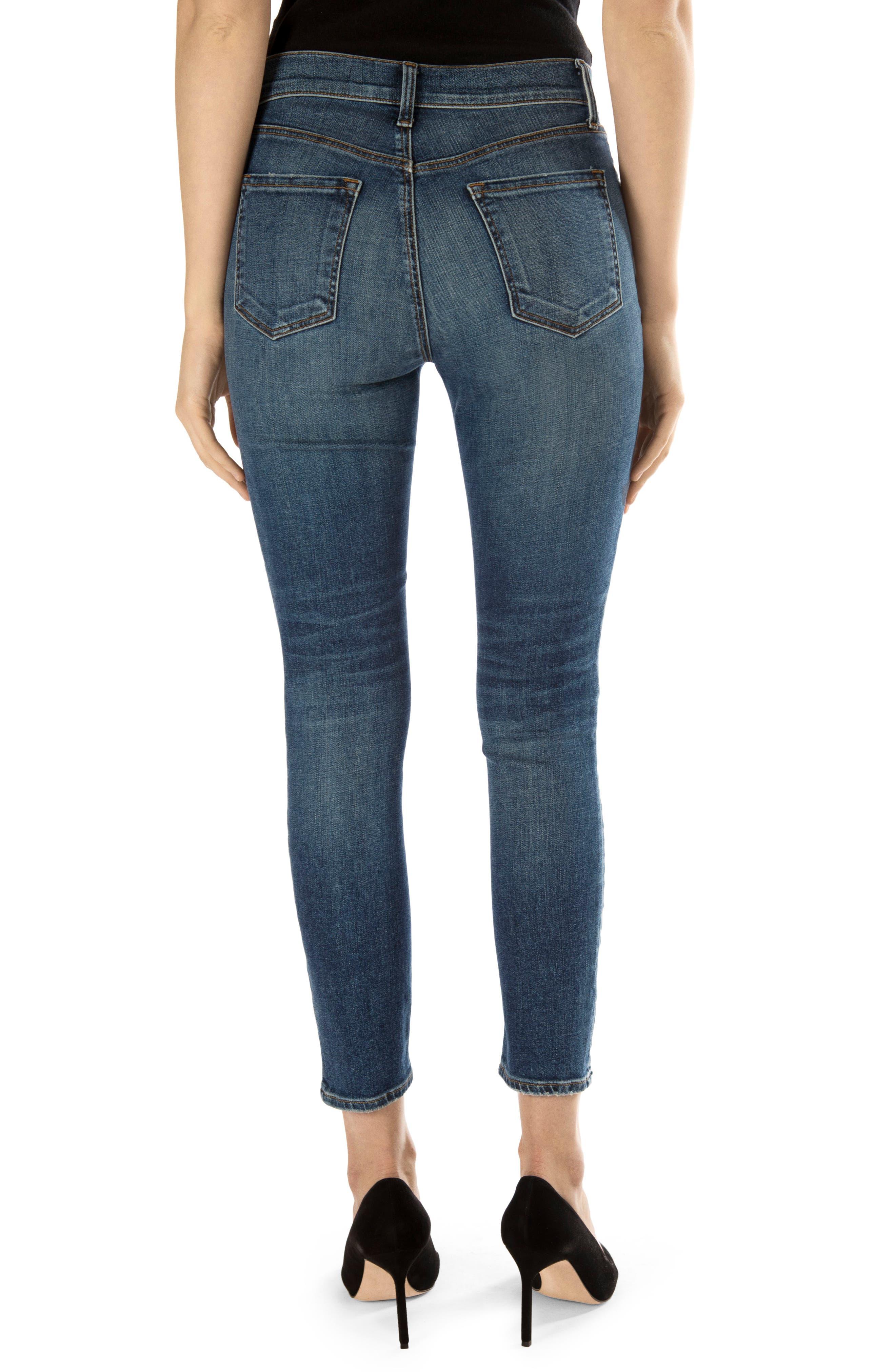Alana High Waist Crop Skinny Jeans,                             Alternate thumbnail 2, color,                             469