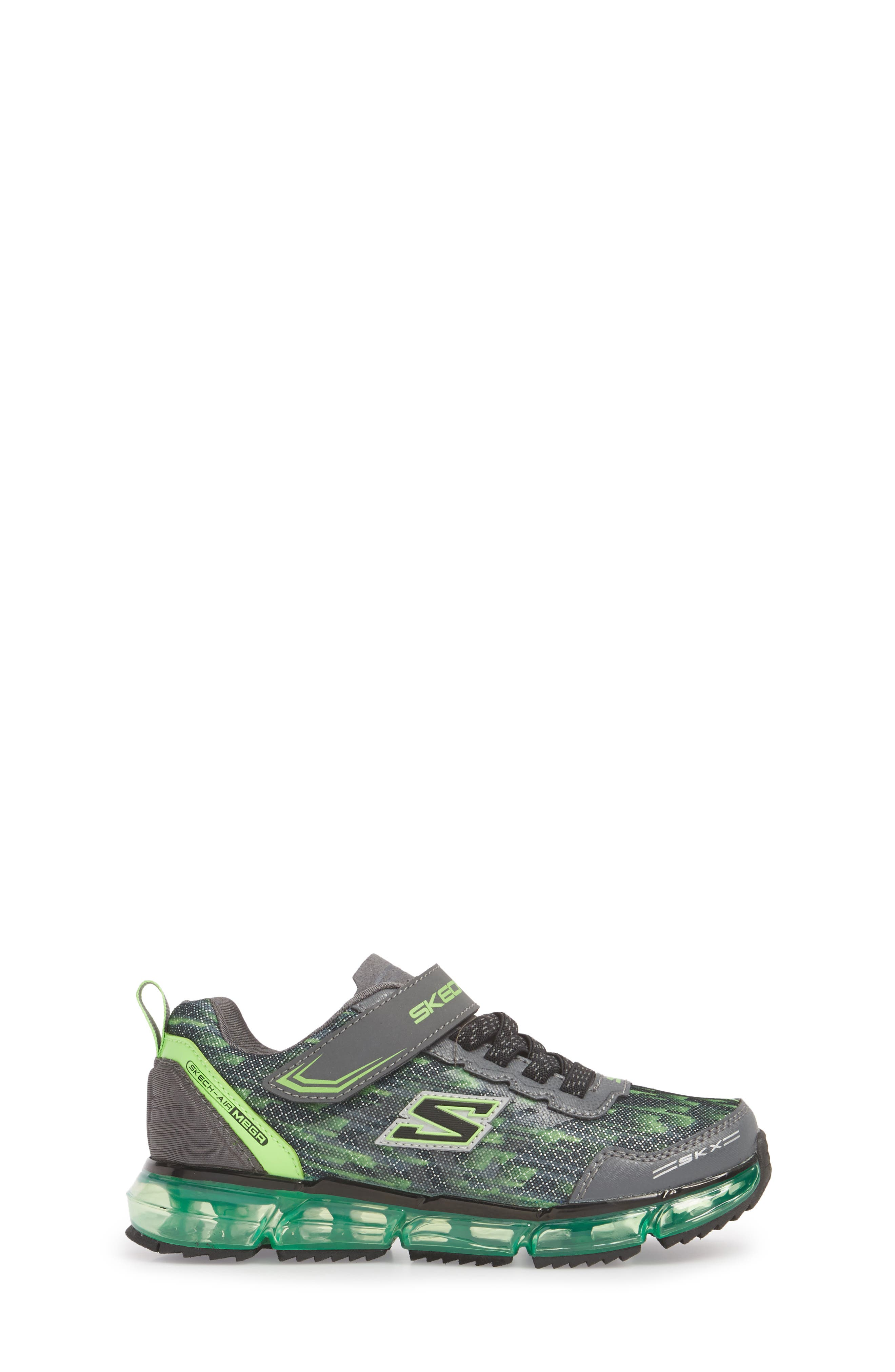 Skech-Air Mega Sneaker,                             Alternate thumbnail 3, color,                             001