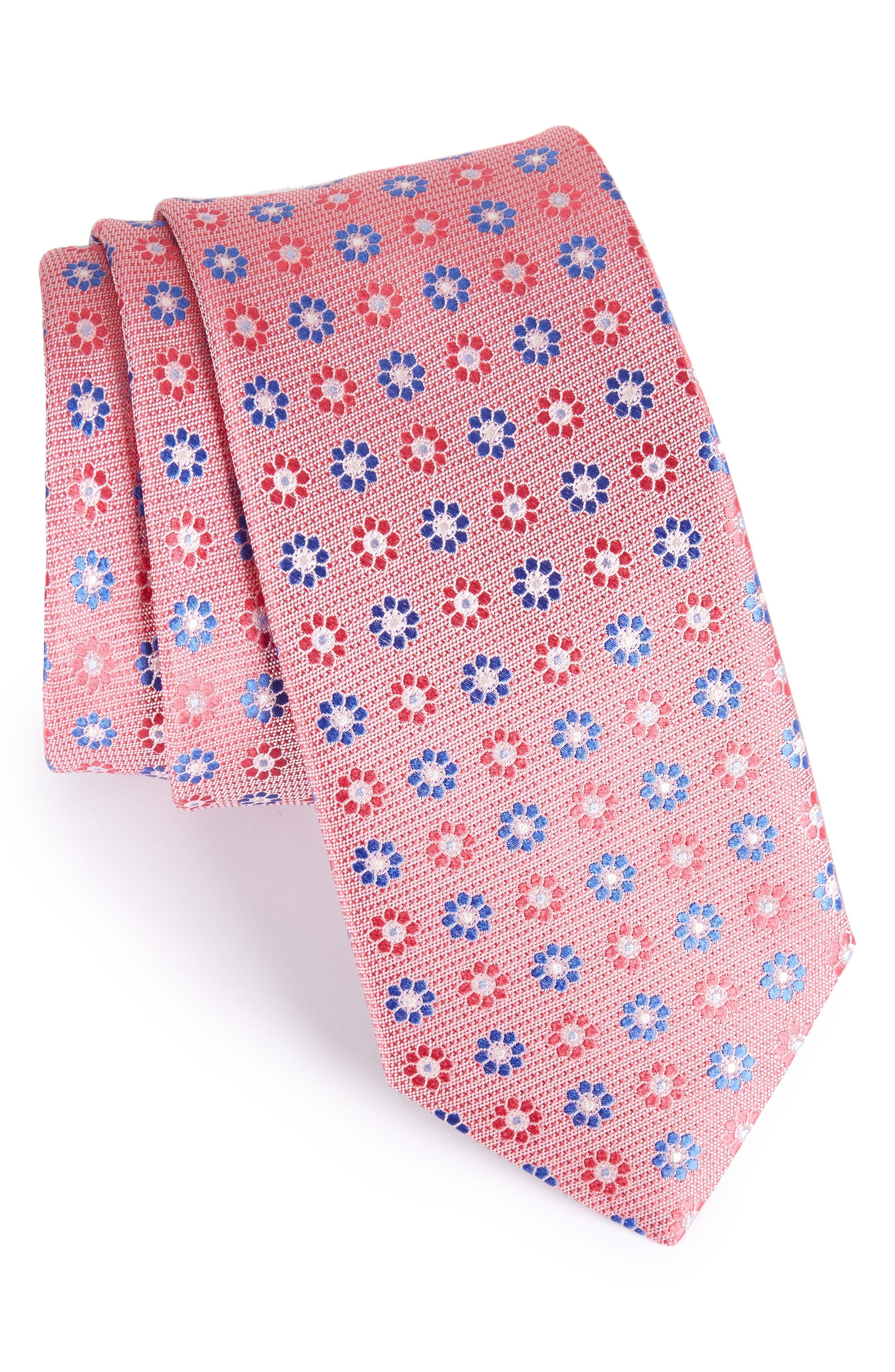 John W. Nordstrom Floral Silk Tie,                             Main thumbnail 5, color,