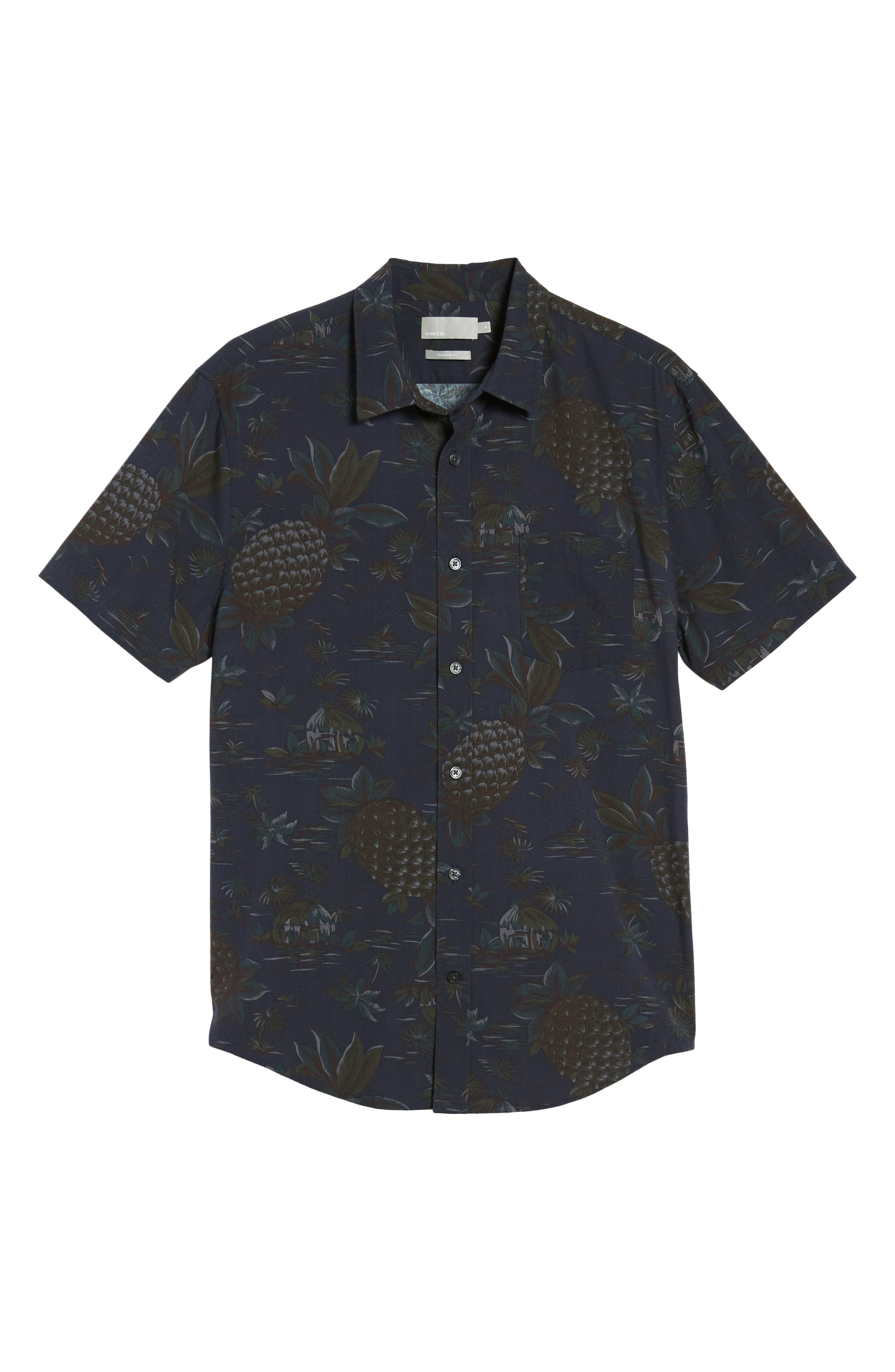 Classic Fit Tropical Short Sleeve Sport Shirt,                             Alternate thumbnail 6, color,                             463