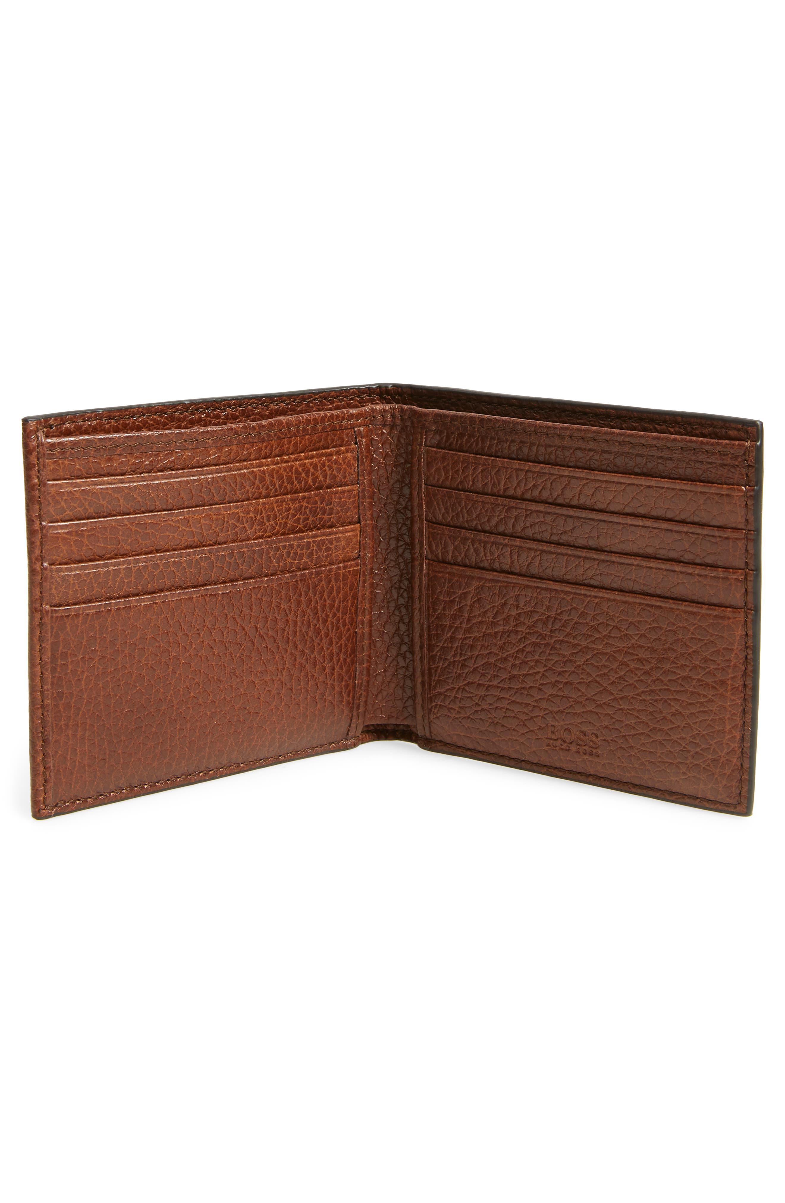 Traveller Leather Wallet,                             Alternate thumbnail 2, color,                             MEDIUM BROWN