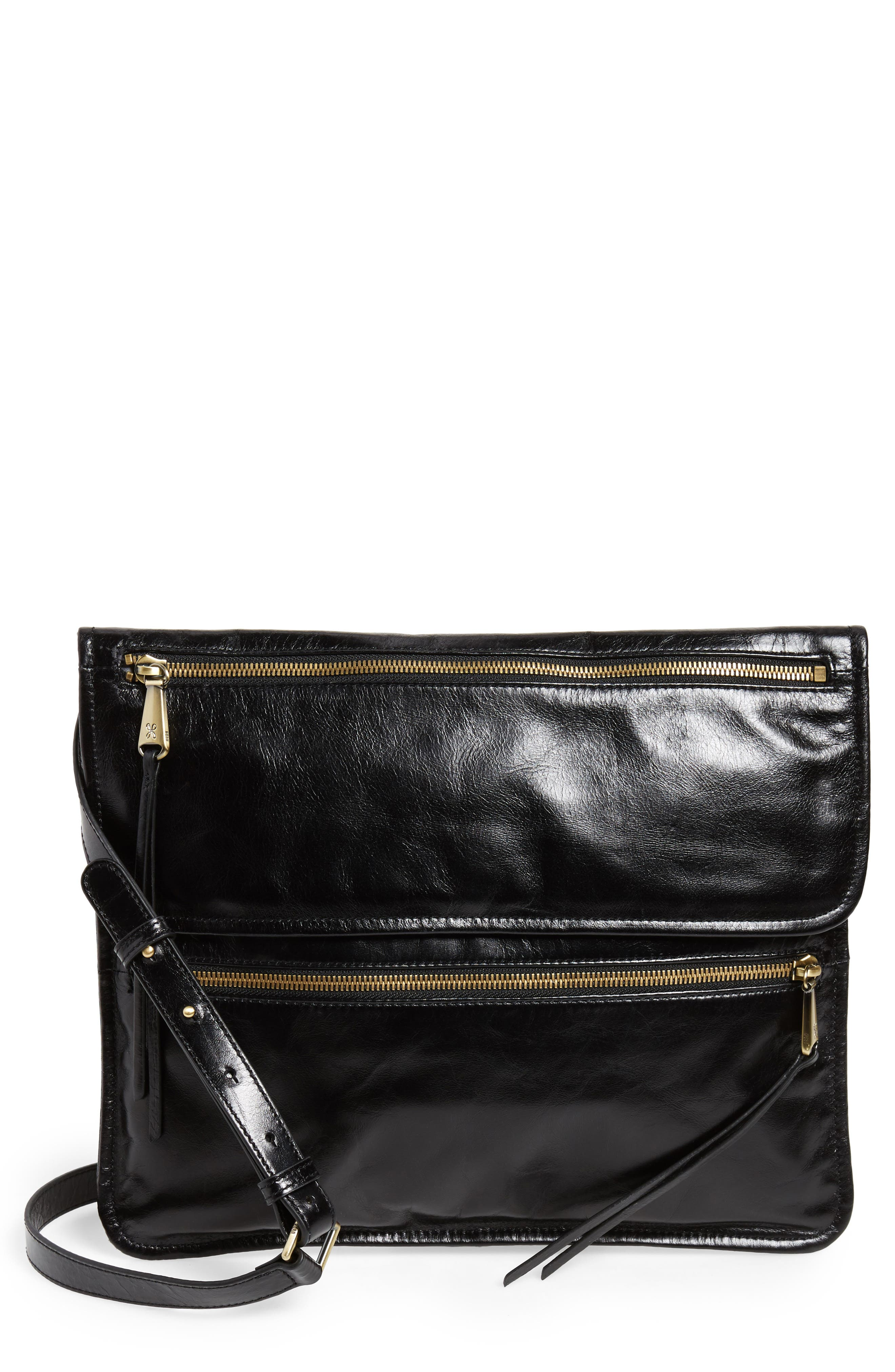 Vista Calfskin Leather Messenger Bag,                         Main,                         color,