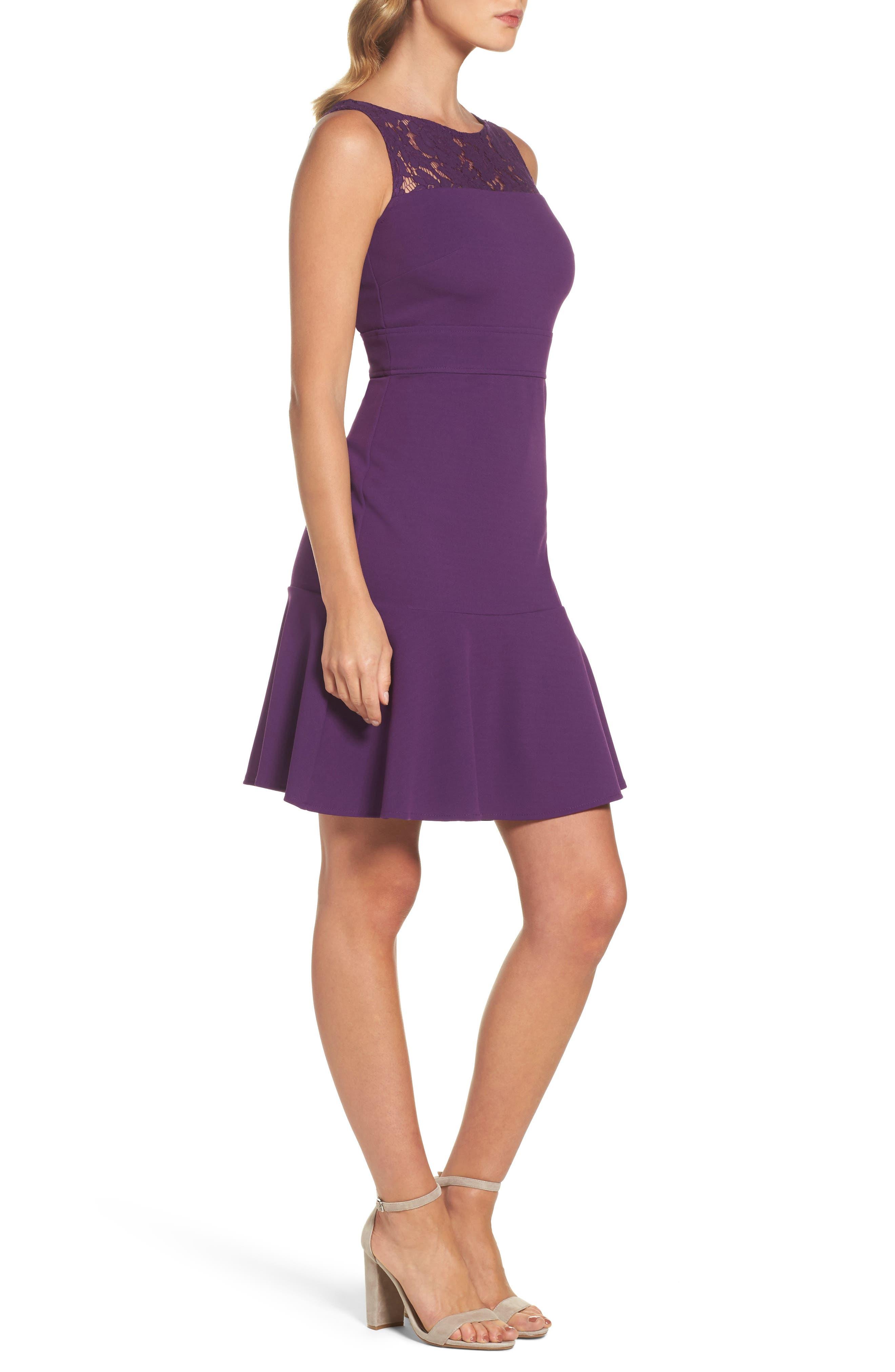 Lace Flounce Dress,                             Alternate thumbnail 6, color,