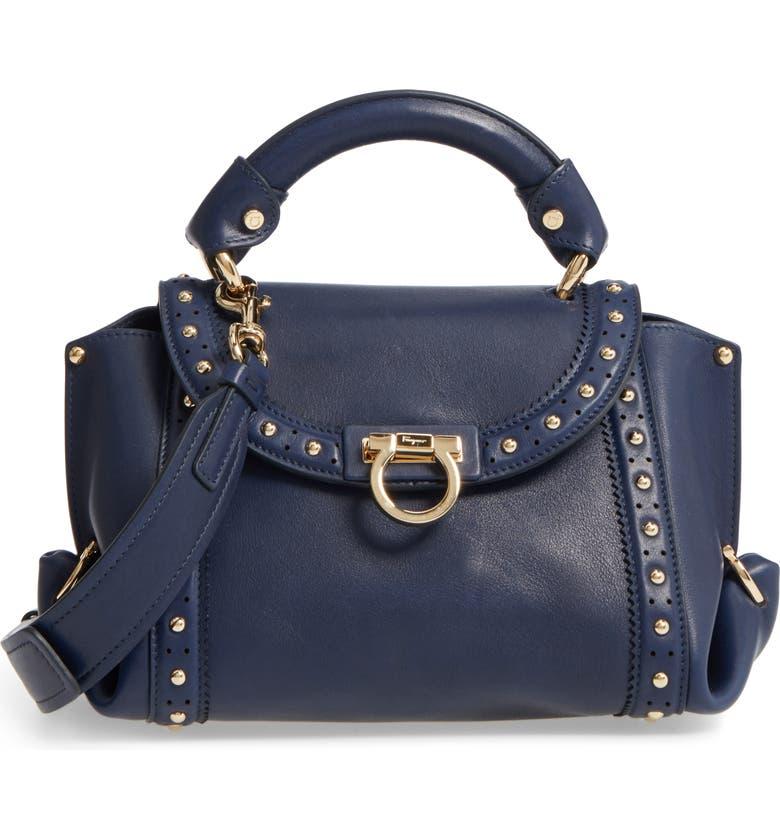 ca0bf3d6a0a SALVATORE FERRAGAMO Small Sofia Studded Leather Satchel, Main, color, 463