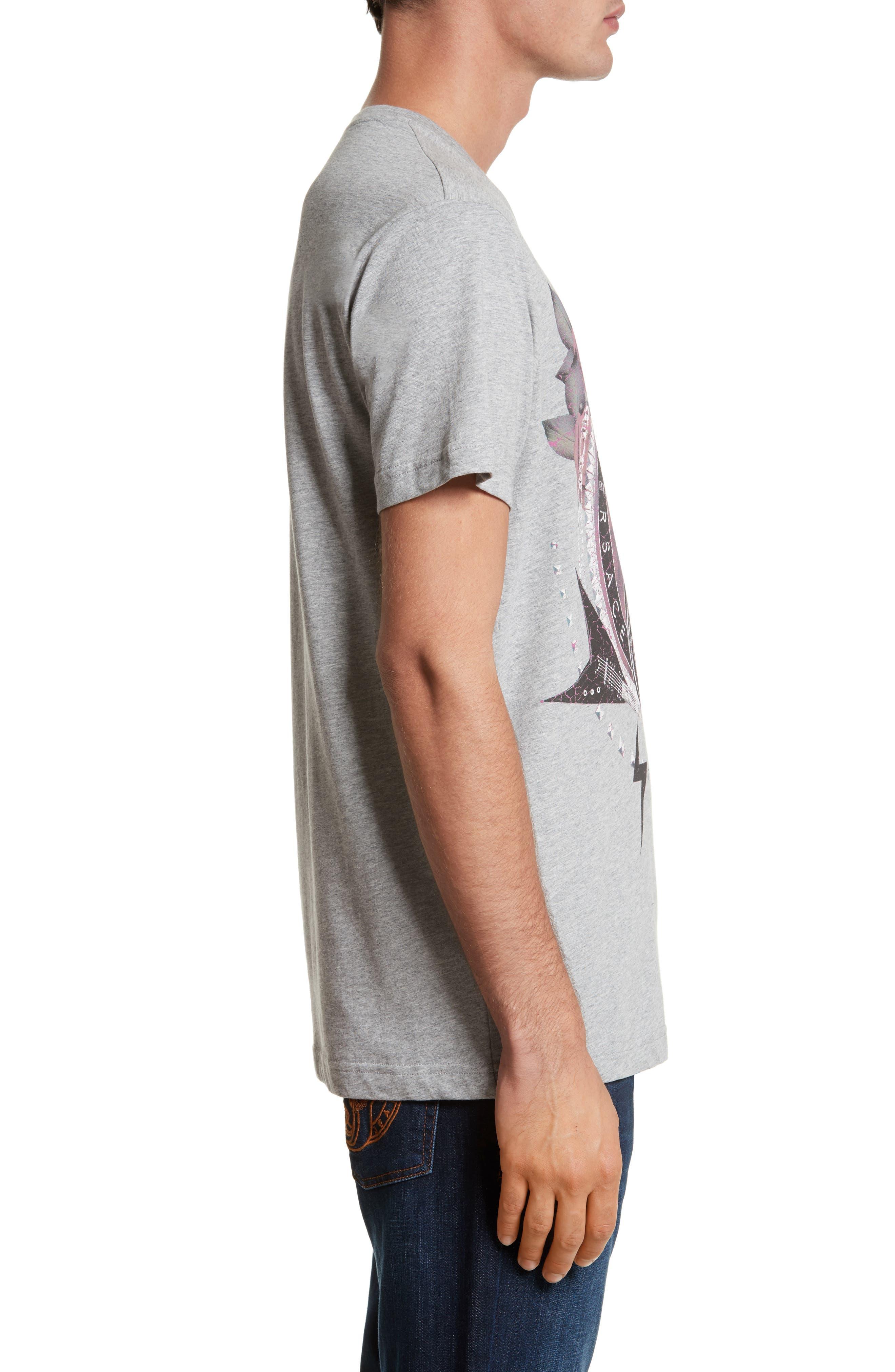 Graphic V-Neck T-Shirt,                             Alternate thumbnail 3, color,                             020