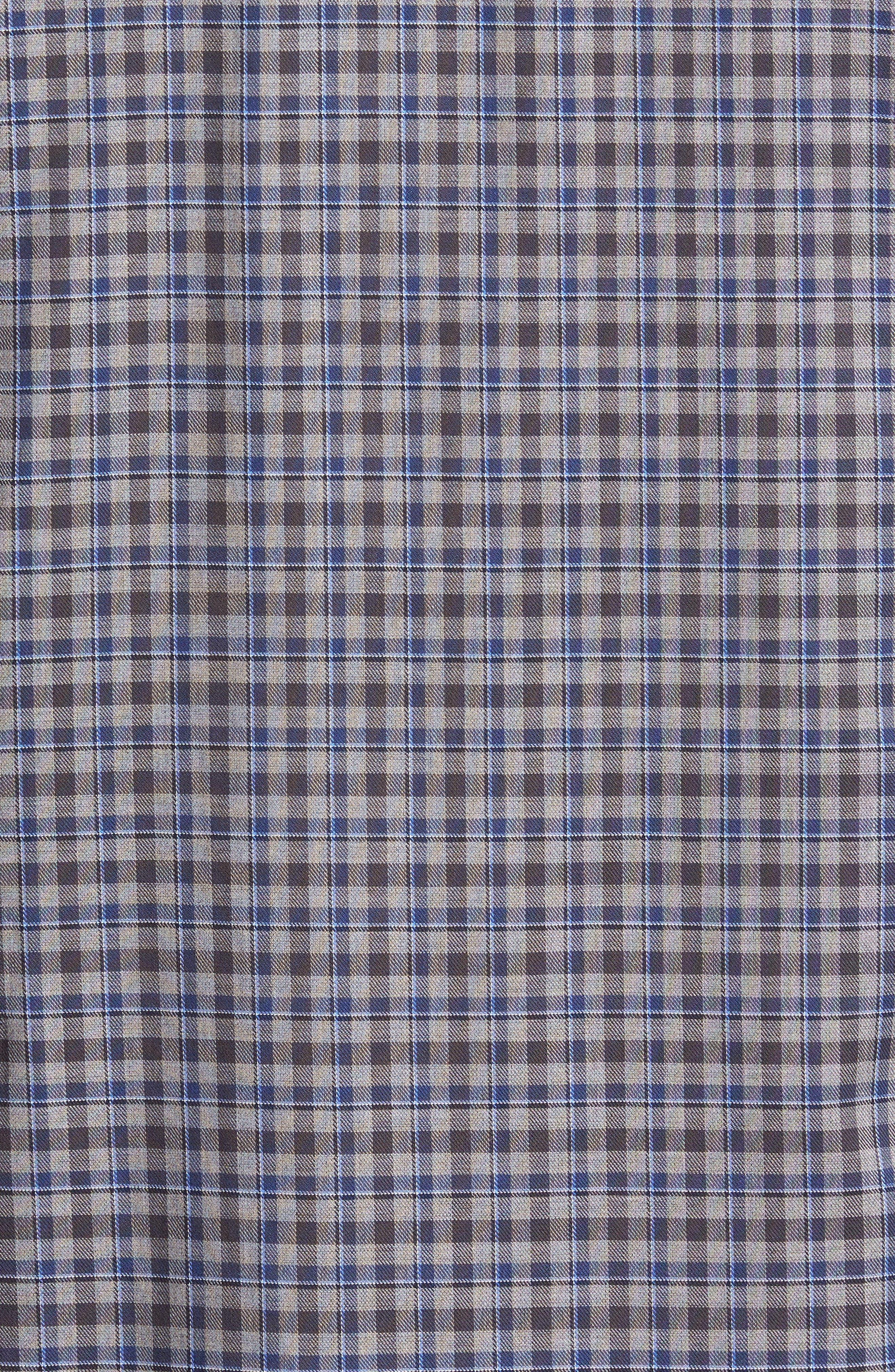 Comfort Fit Plaid Sport Shirt,                             Alternate thumbnail 5, color,