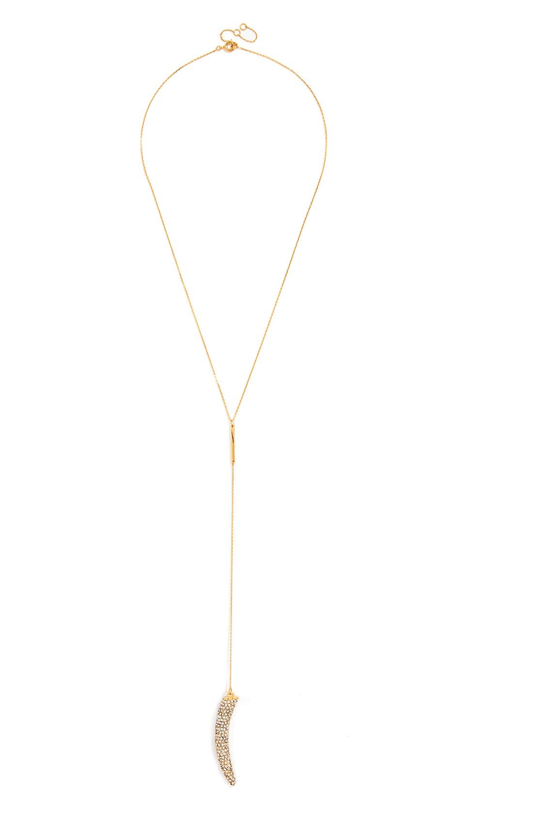 BAUBLEBAR,                             'Ice Horn' Chain Necklace,                             Main thumbnail 1, color,                             710