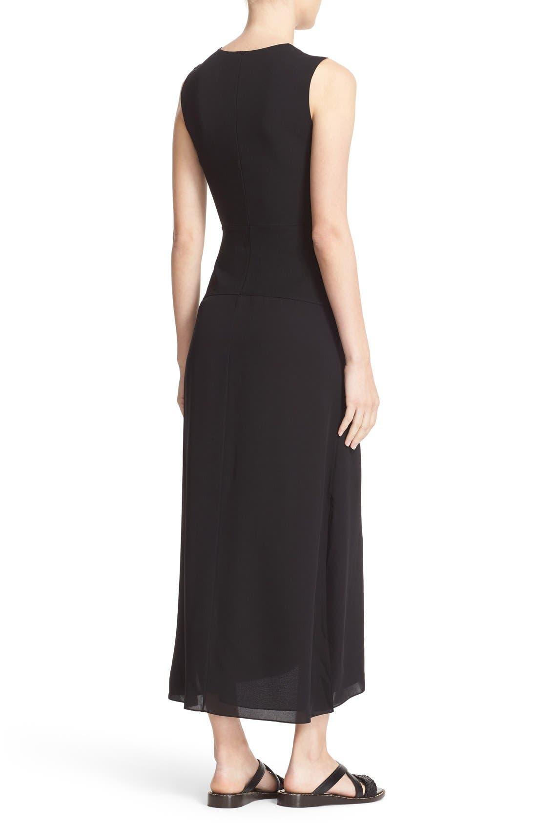 Parthenia Asymmetrical Midi Dress,                             Alternate thumbnail 2, color,                             001