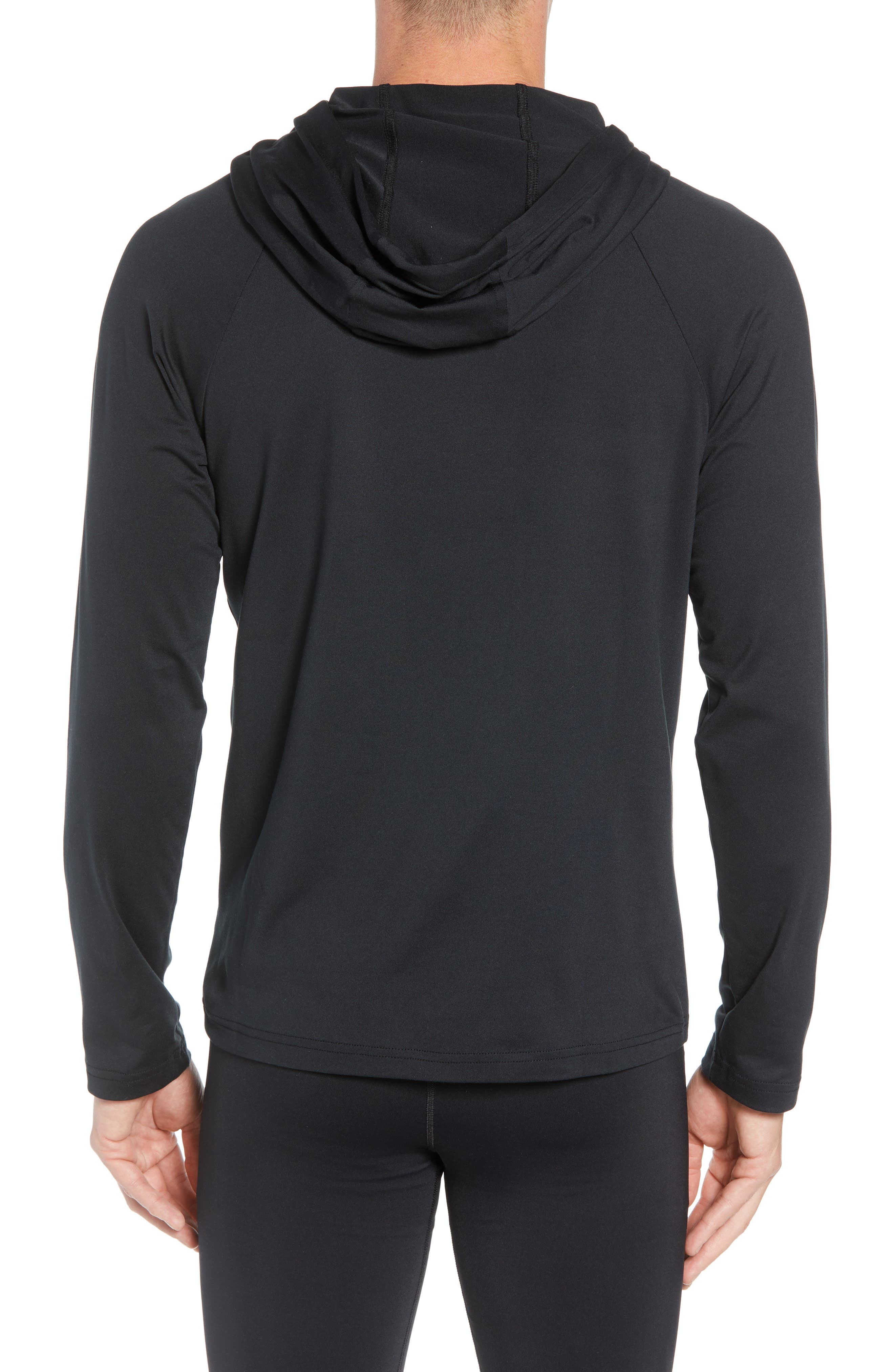Conquer Hoodie,                             Alternate thumbnail 2, color,                             BLACK SOLID
