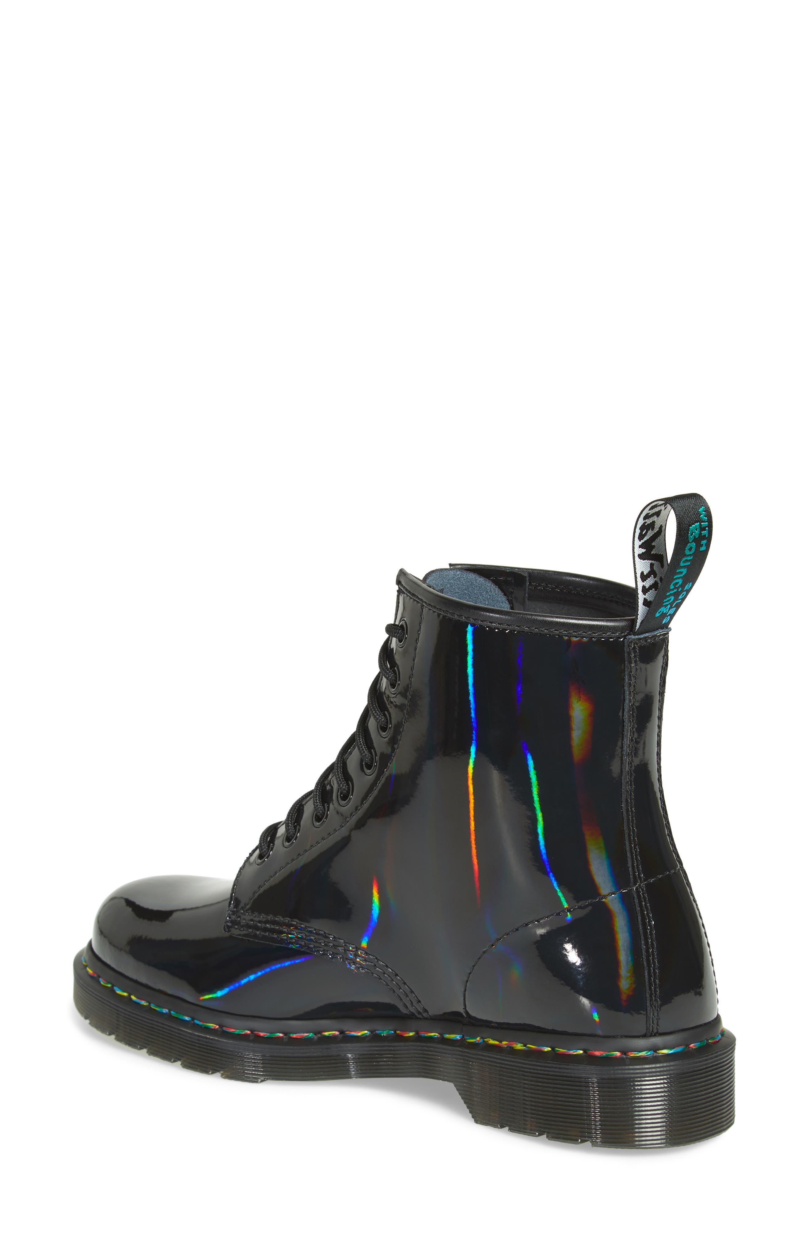 1460 Rainbow Patent Boot,                             Alternate thumbnail 2, color,                             001