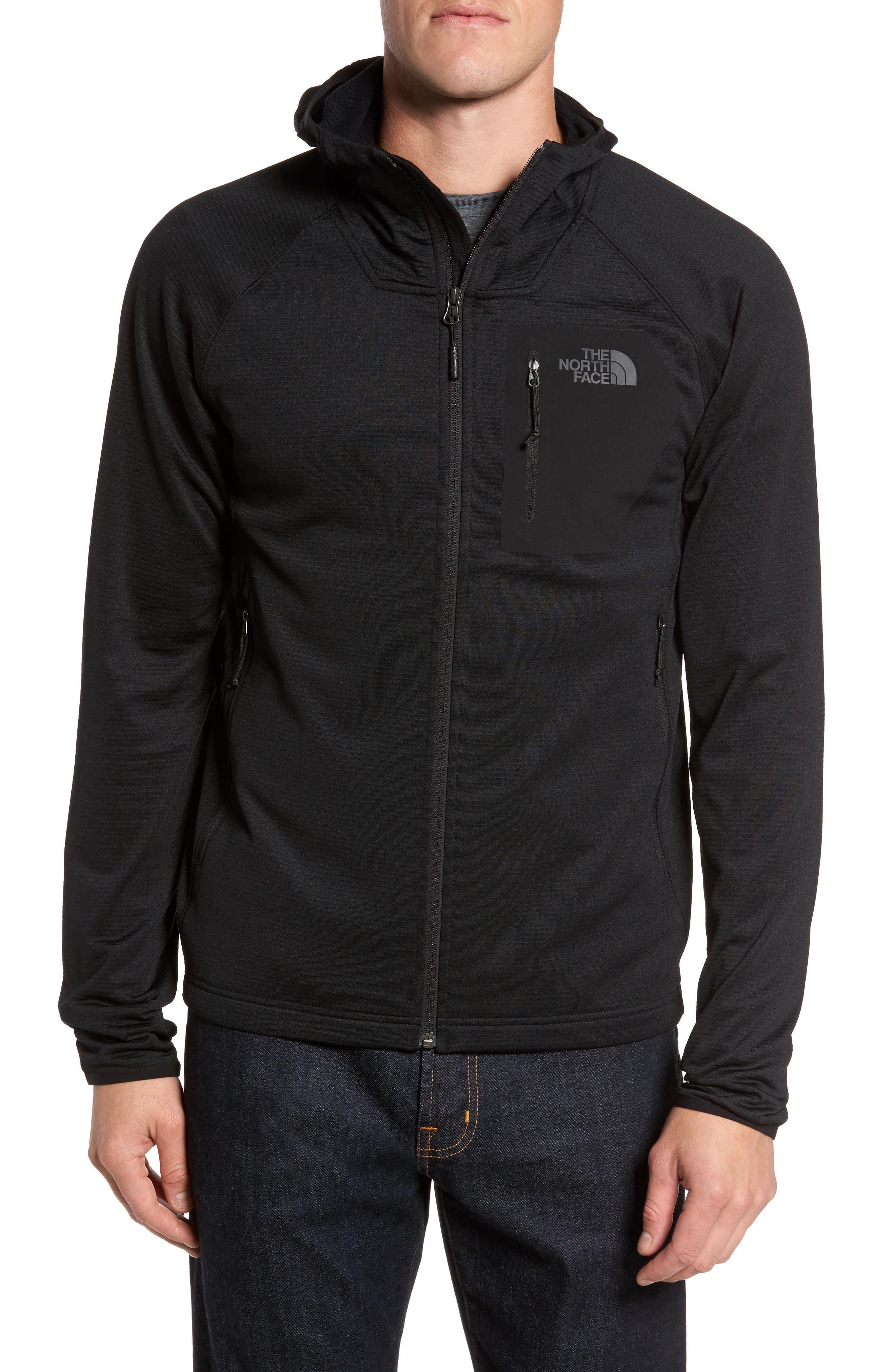 Borod Zip Fleece Jacket,                             Alternate thumbnail 4, color,                             BLACK/ BLACK