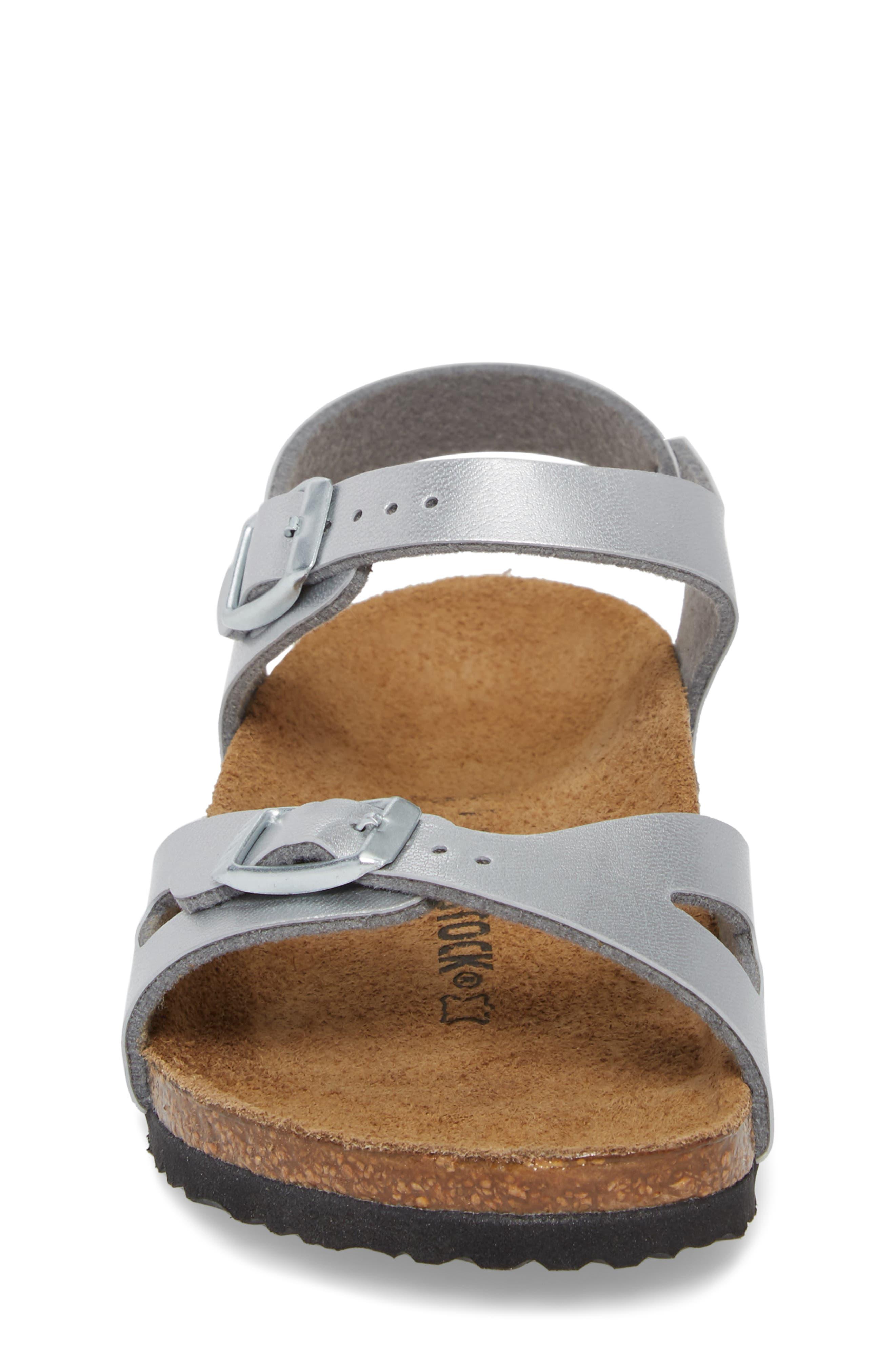 Rio Metallic Sandal,                             Alternate thumbnail 4, color,                             SILVER