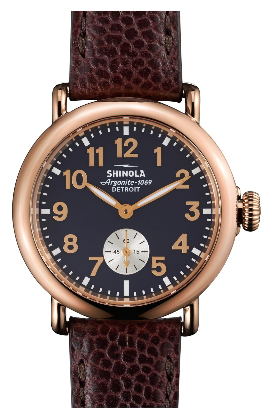'The Runwell' Leather Strap Watch, 36mm,                             Main thumbnail 1, color,                             OXBLOOD/ MIDNIGHT BLUE
