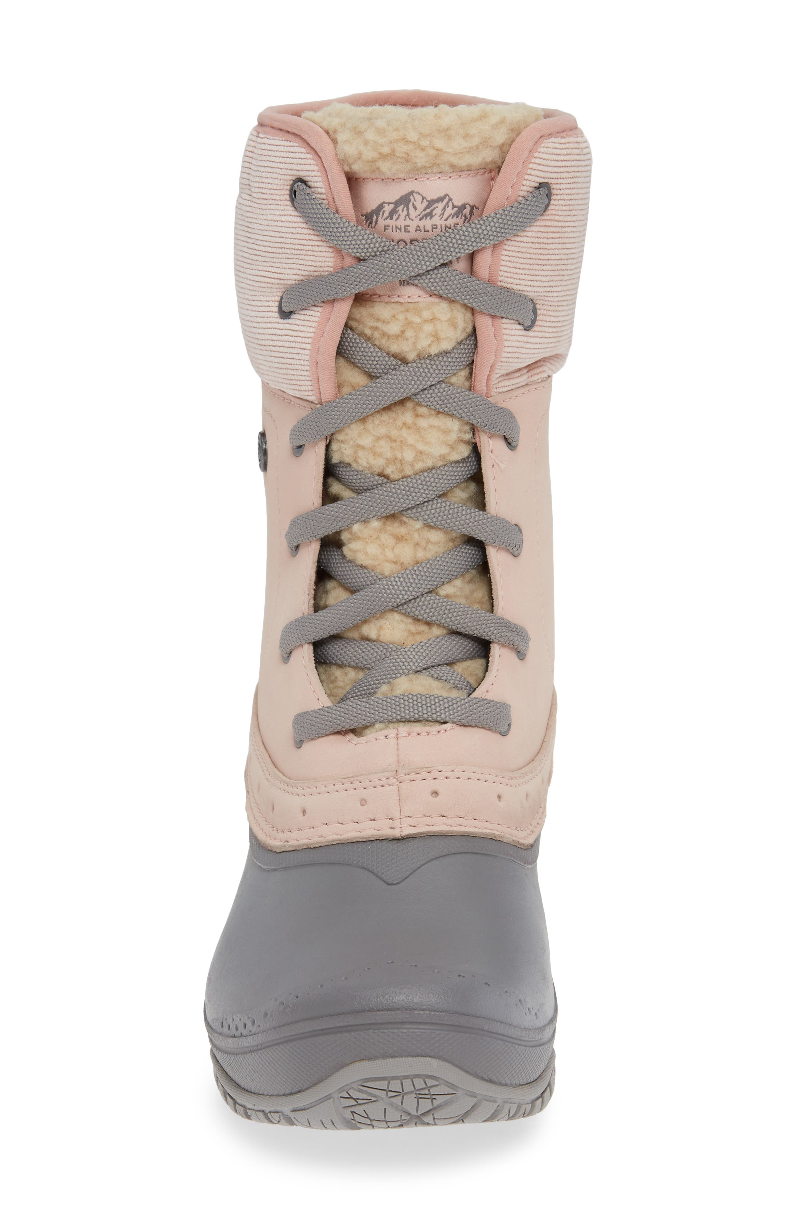 Shellista Roll Cuff Waterproof Insulated Winter Boot,                             Alternate thumbnail 4, color,                             MISTY ROSE/ Q-SILVER GREY