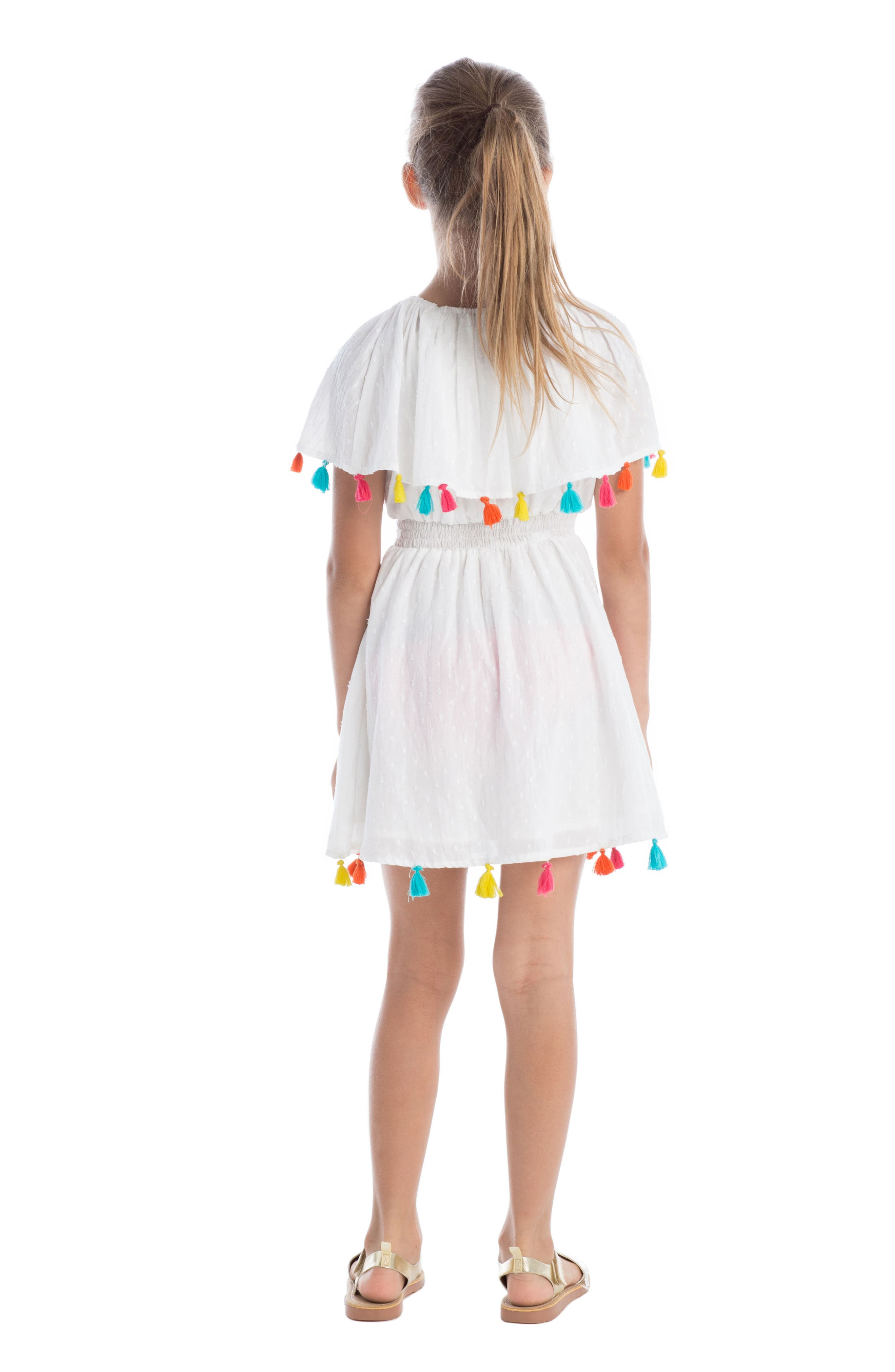Fun Fair Tassel Dress,                             Alternate thumbnail 3, color,                             100