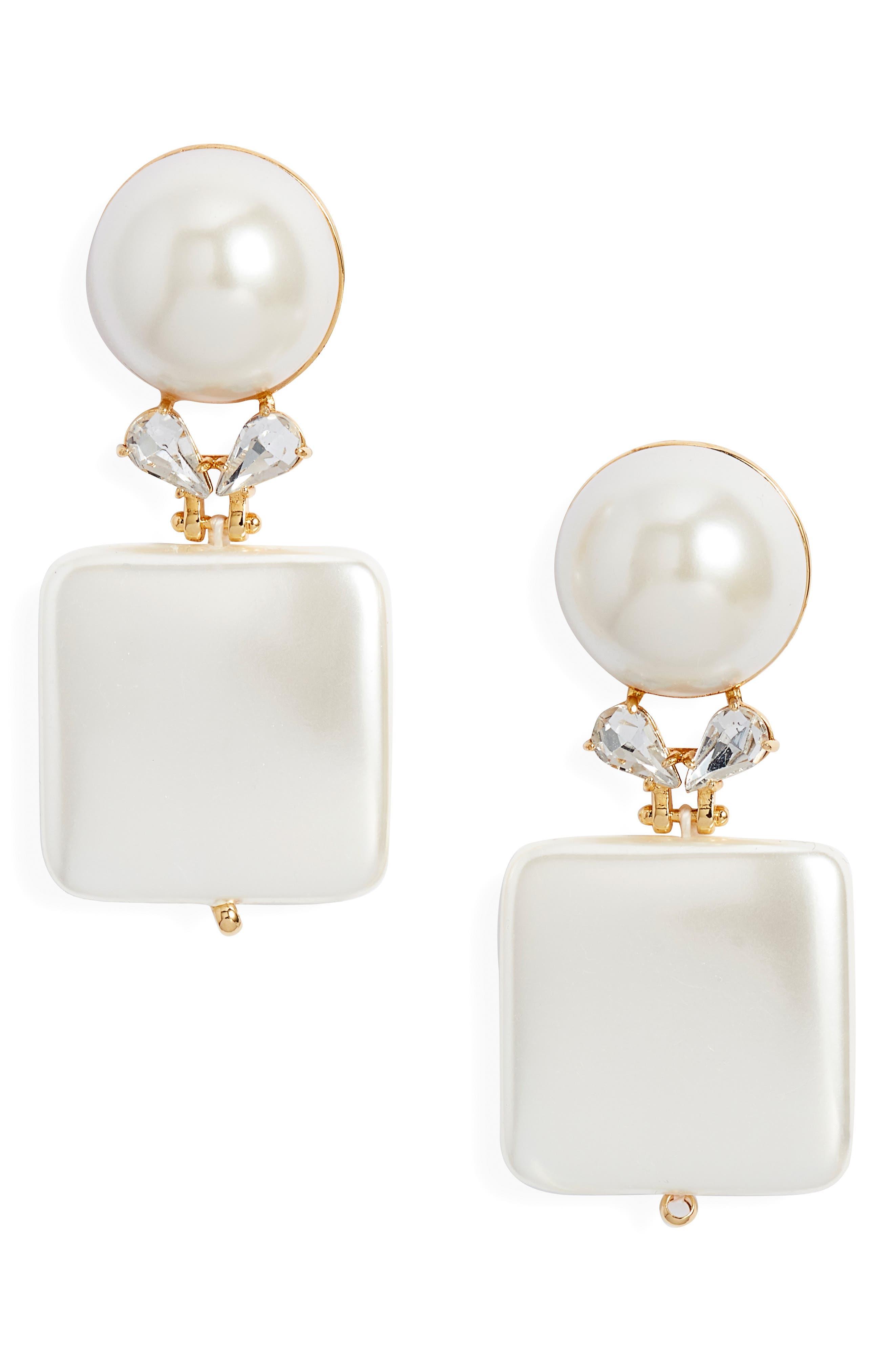 LELE SADOUGHI Starlet Stone Drop Earrings in Pearl