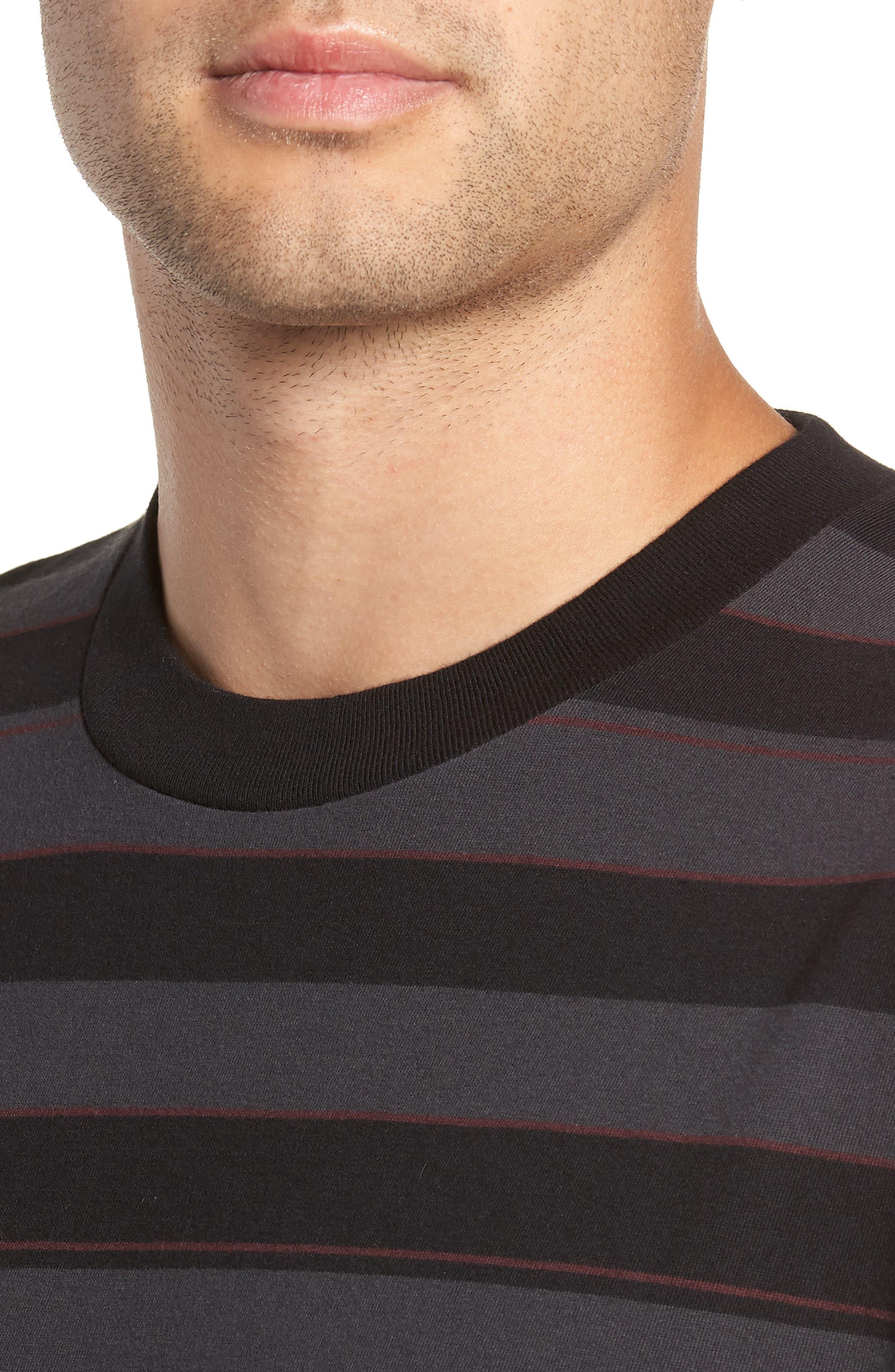 Hoop Box Long Sleeve T-Shirt,                             Alternate thumbnail 4, color,                             VINTAGE BLACK/ BLACK