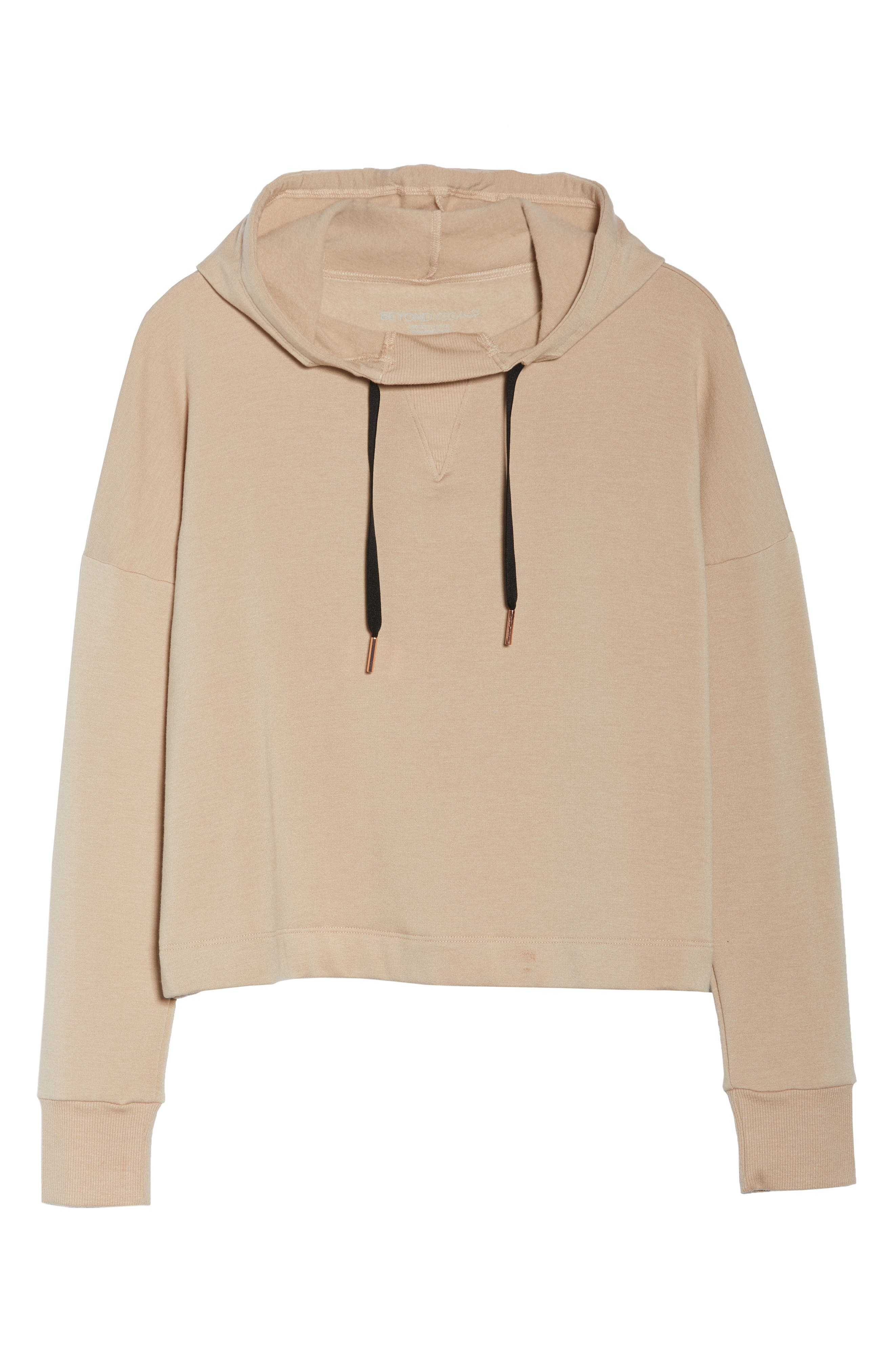 Sedona Cropped Hoodie,                             Alternate thumbnail 7, color,                             TEXAS TAUPE