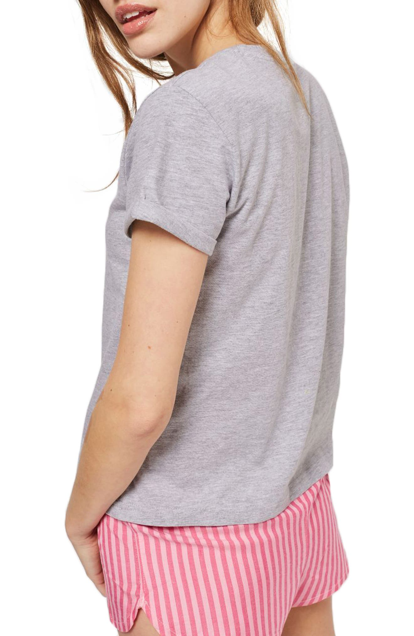 TOPSHOP,                             Flamingoals Short Pajamas,                             Alternate thumbnail 2, color,                             650