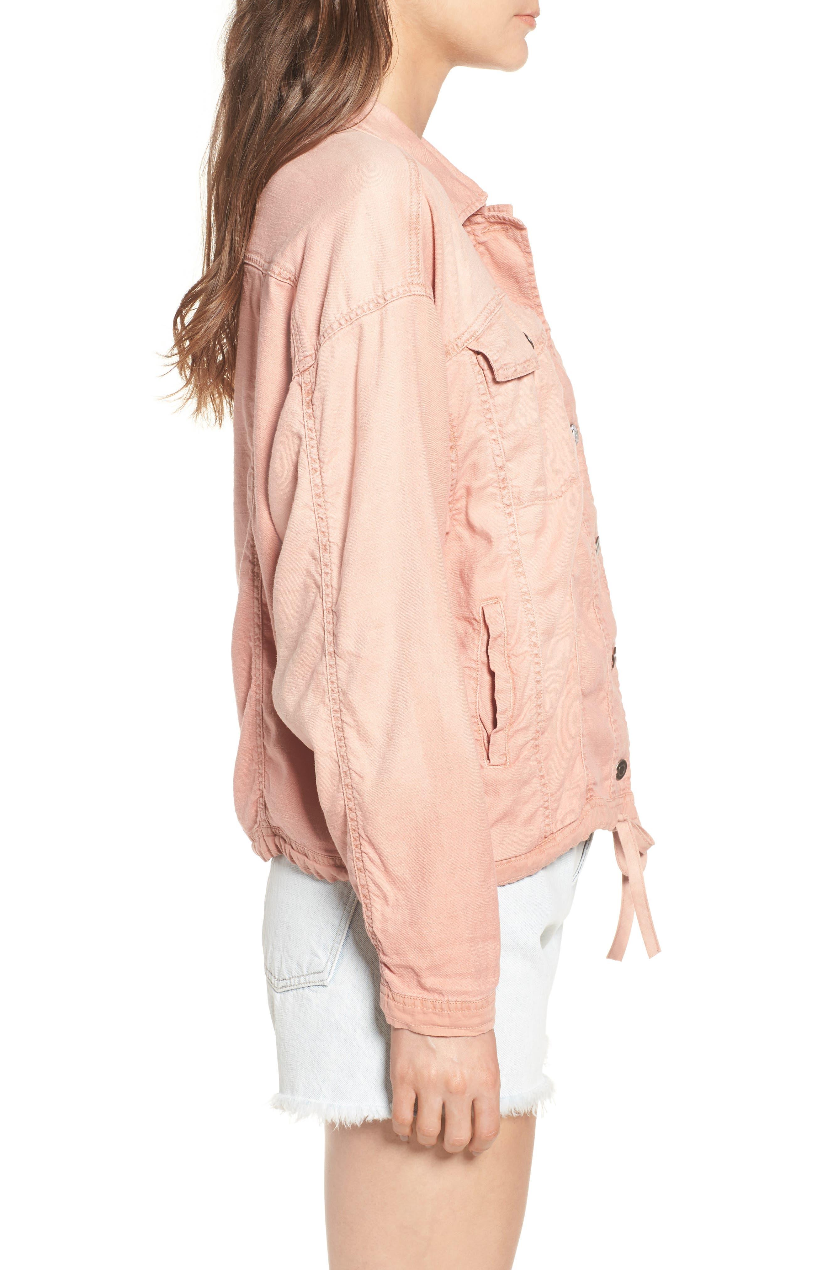 Linen Blend Drape Jacket,                             Alternate thumbnail 6, color,