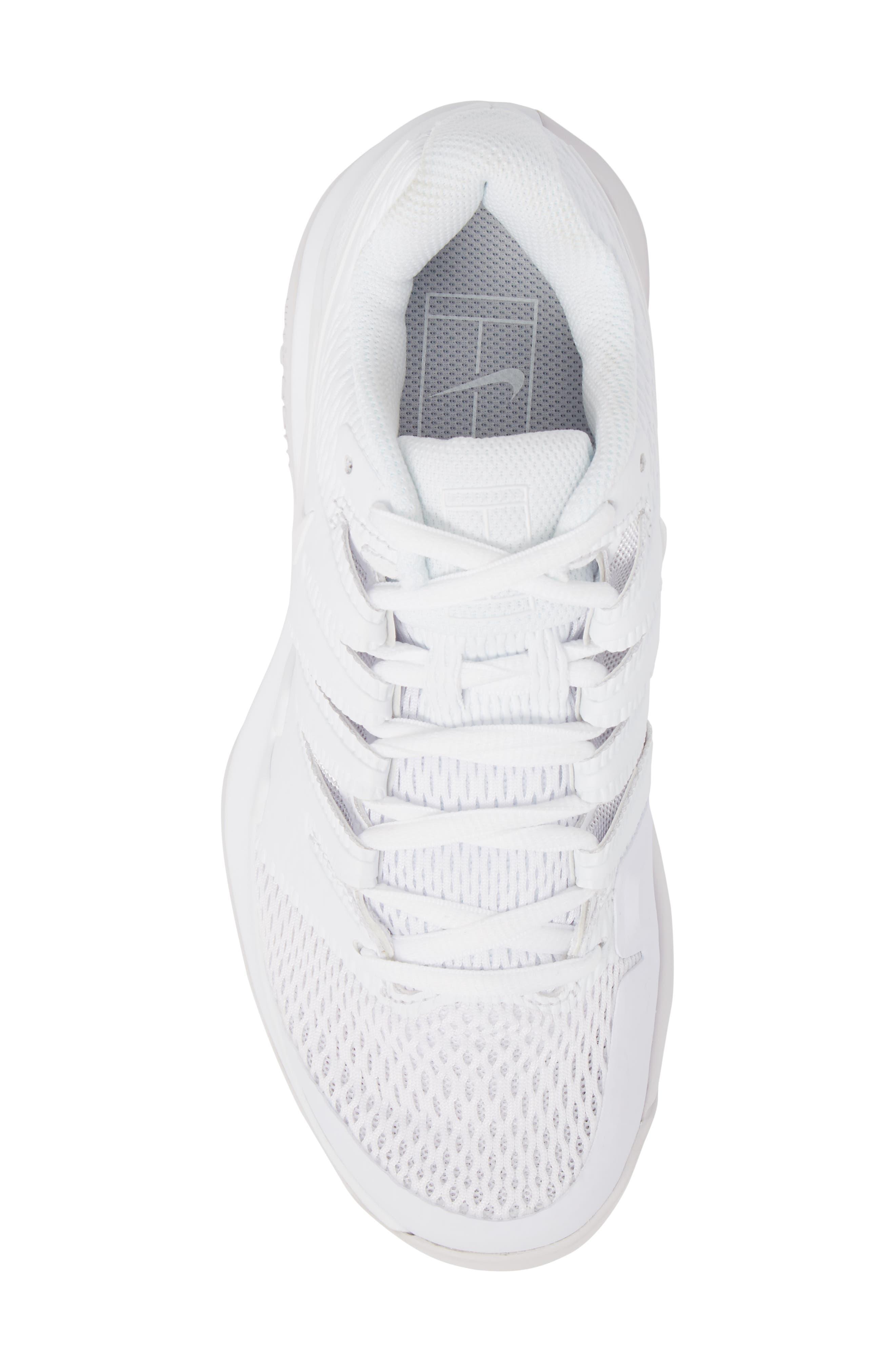Air Zoom Vapor X Tennis Shoe,                             Alternate thumbnail 5, color,                             WHITE/ WHITE/ VAST GREY