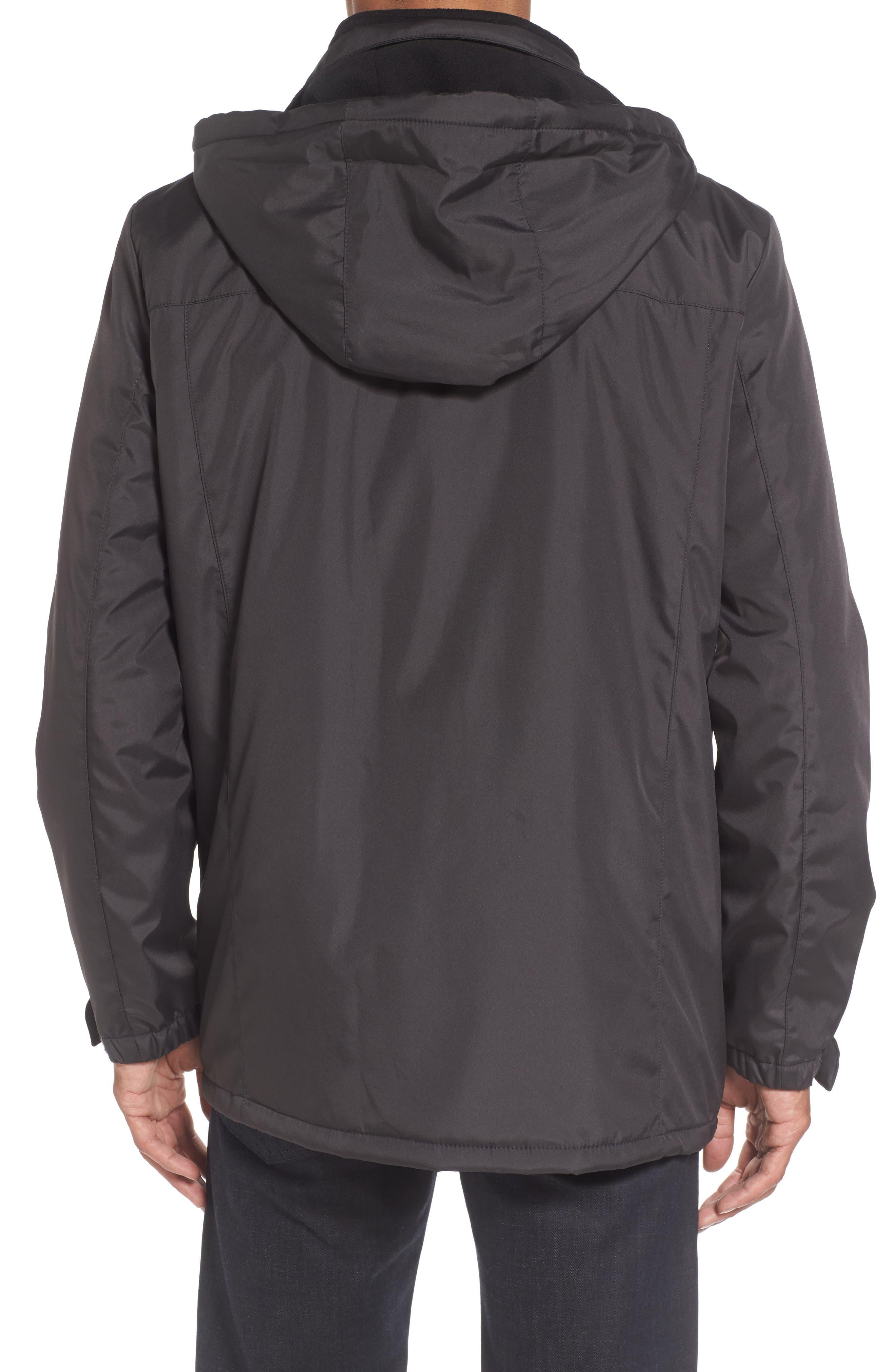 Hooded Jacket with Inset Fleece Bib,                             Alternate thumbnail 6, color,