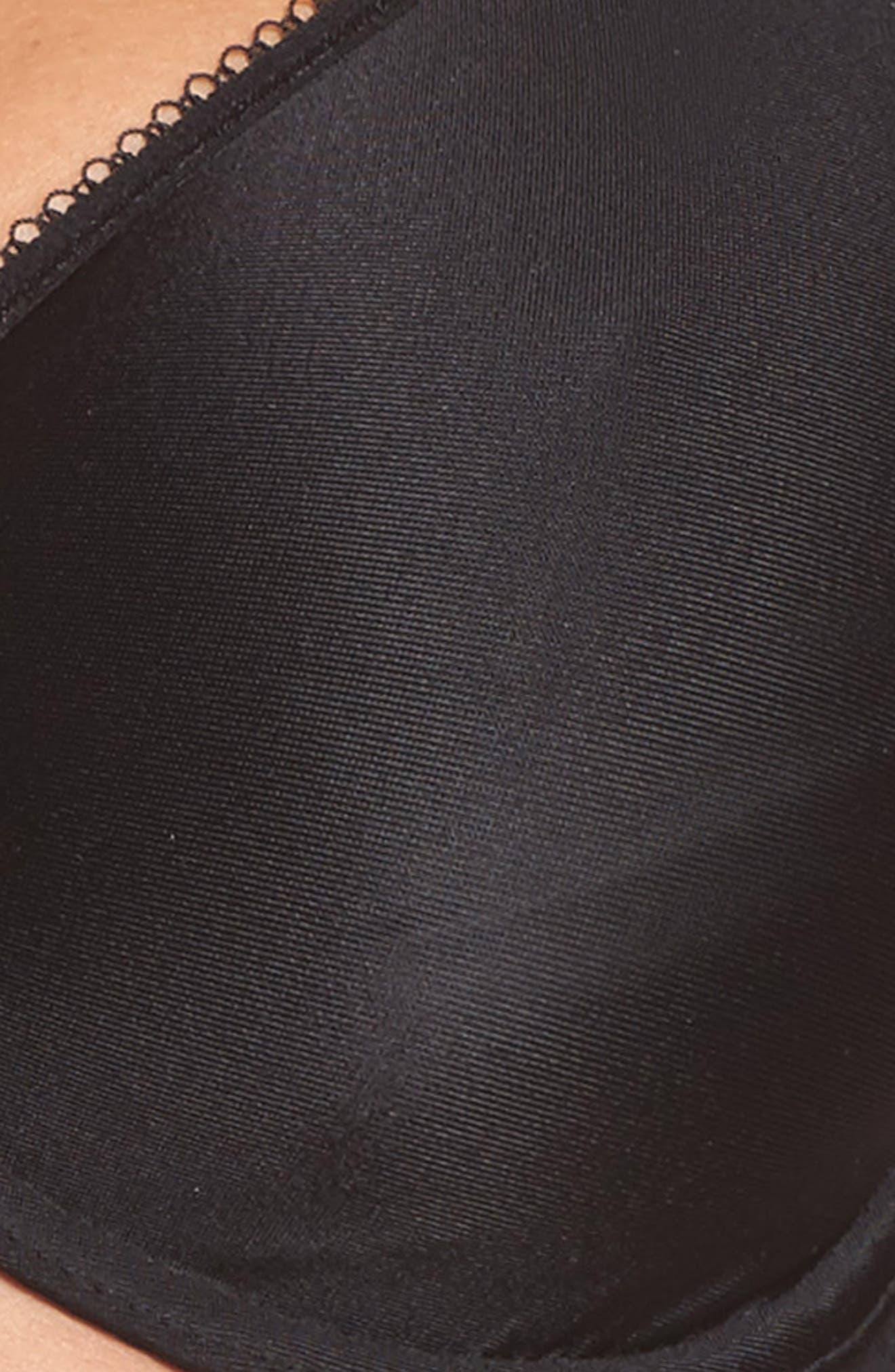 Basic Beauty Full Figure Underwire Bra,                             Alternate thumbnail 4, color,                             BLACK