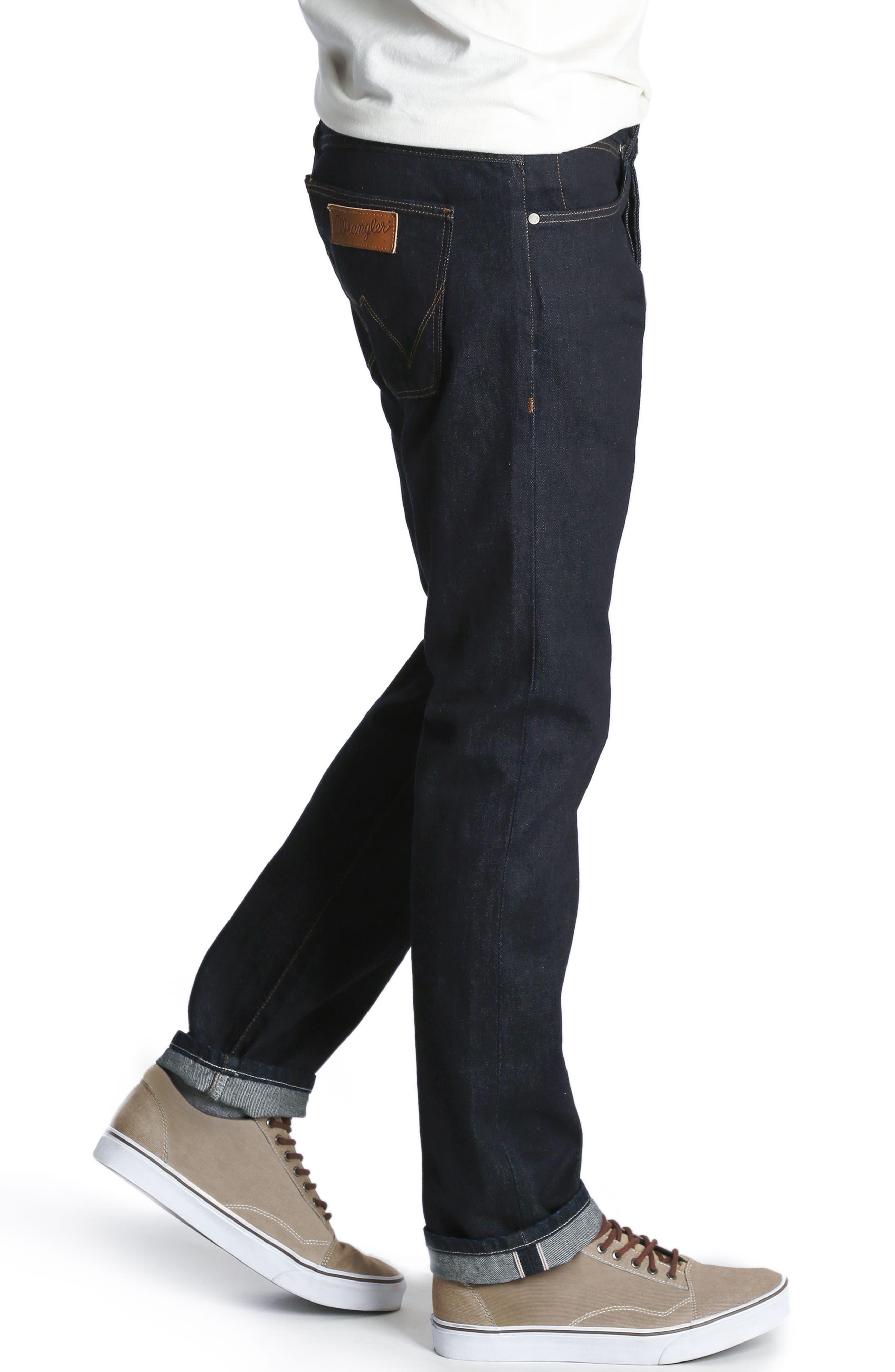 Spencer Selvedge Slim Straight Leg Jeans,                             Alternate thumbnail 3, color,                             468