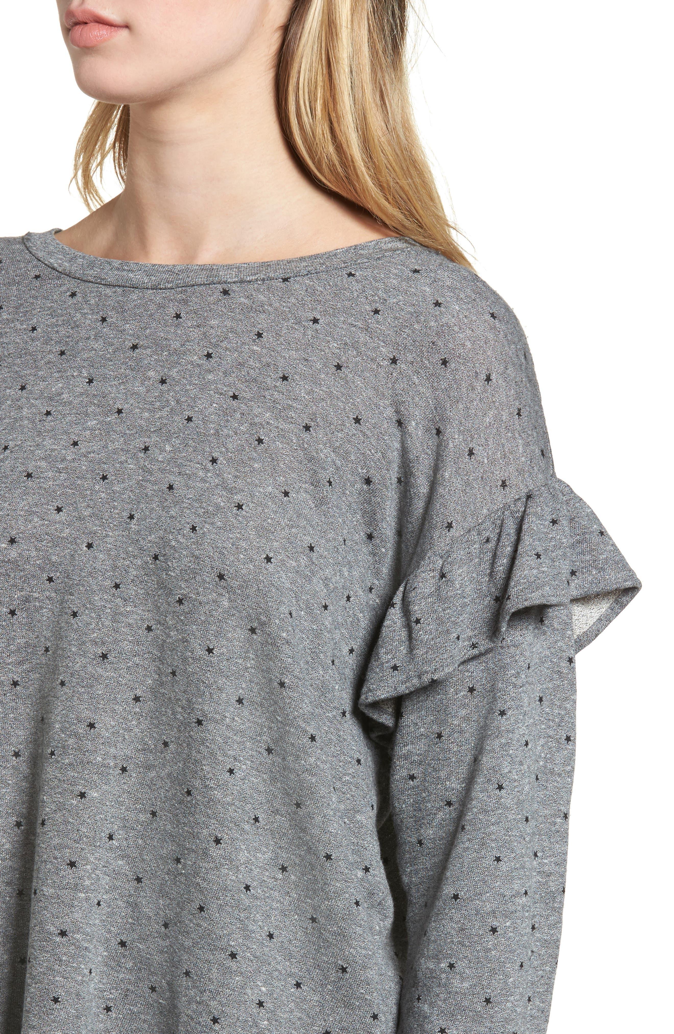 The Ruffle Sweatshirt,                             Alternate thumbnail 4, color,                             096