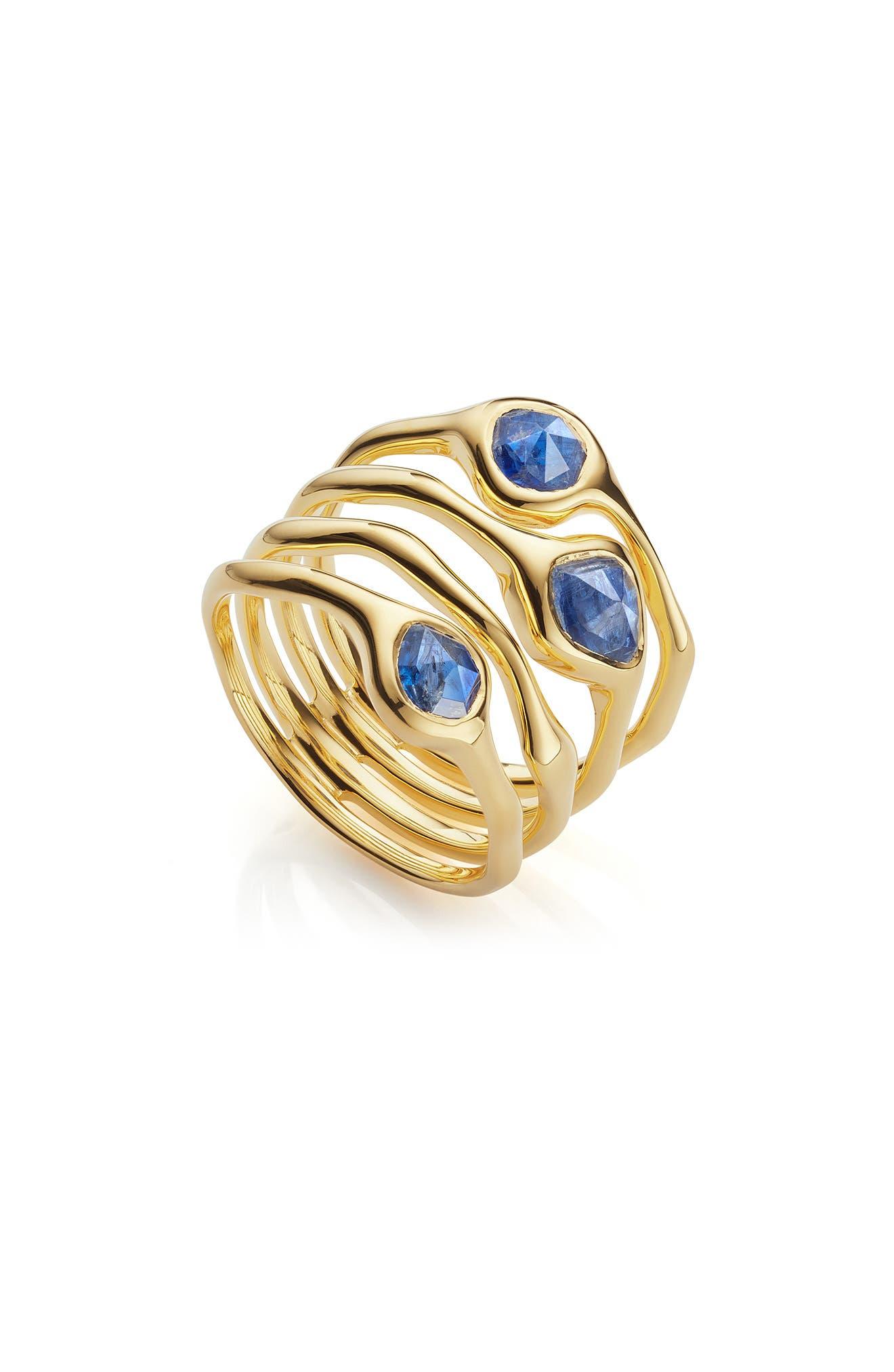 Siren Cluster Cocktail Ring,                             Main thumbnail 1, color,                             GOLD/ KYANITE