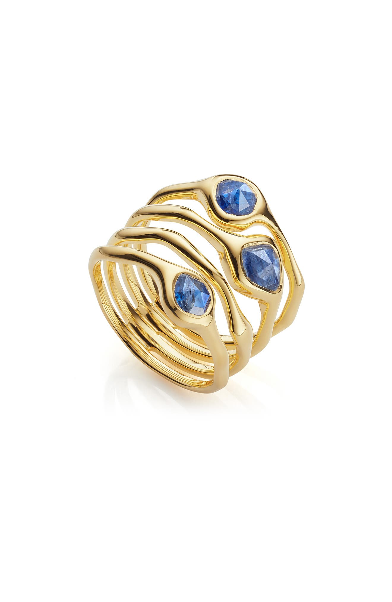 Siren Cluster Cocktail Ring,                         Main,                         color, GOLD/ KYANITE