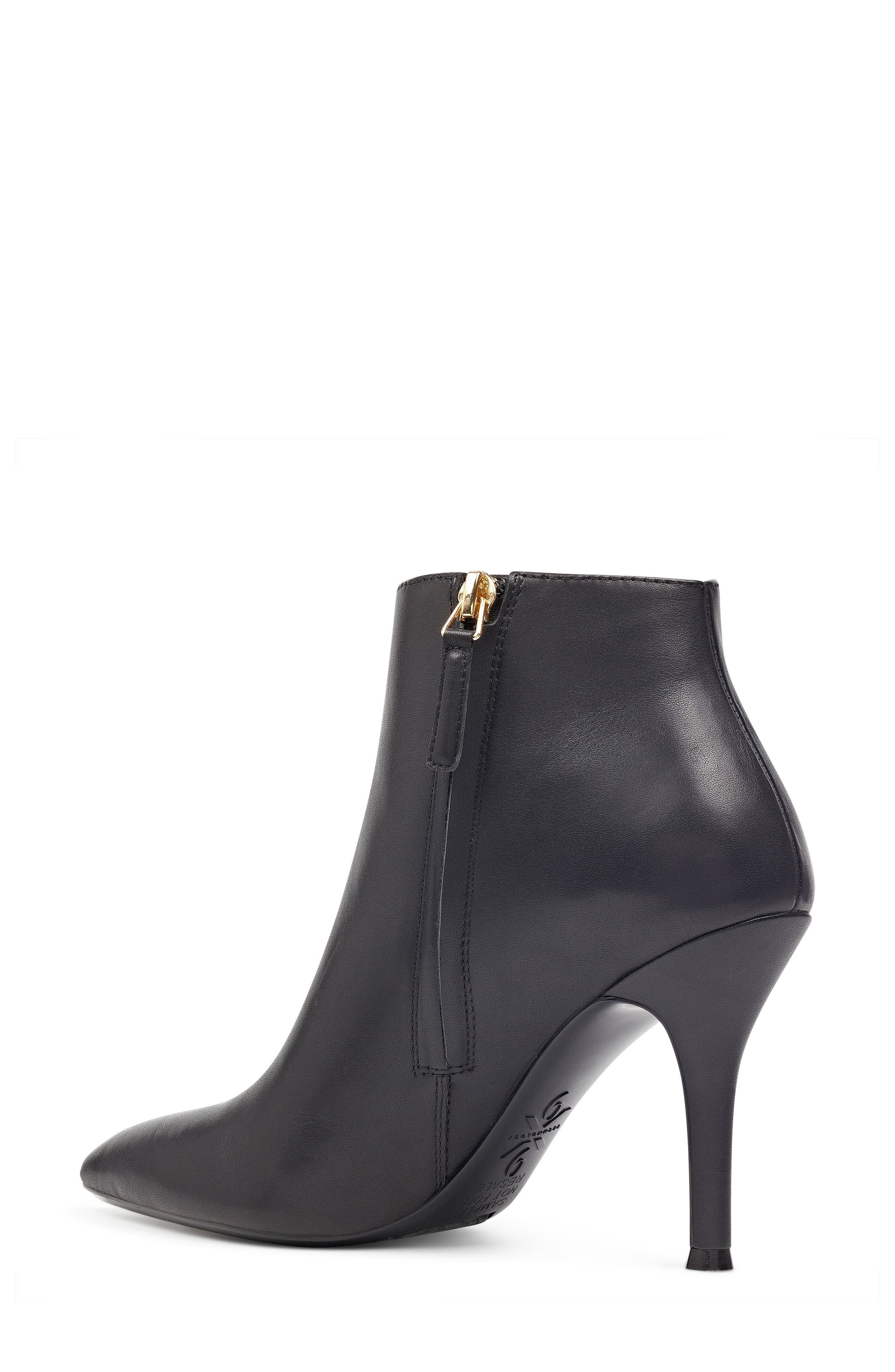 NINE WEST,                             Pointy Toe Bootie,                             Alternate thumbnail 2, color,                             001